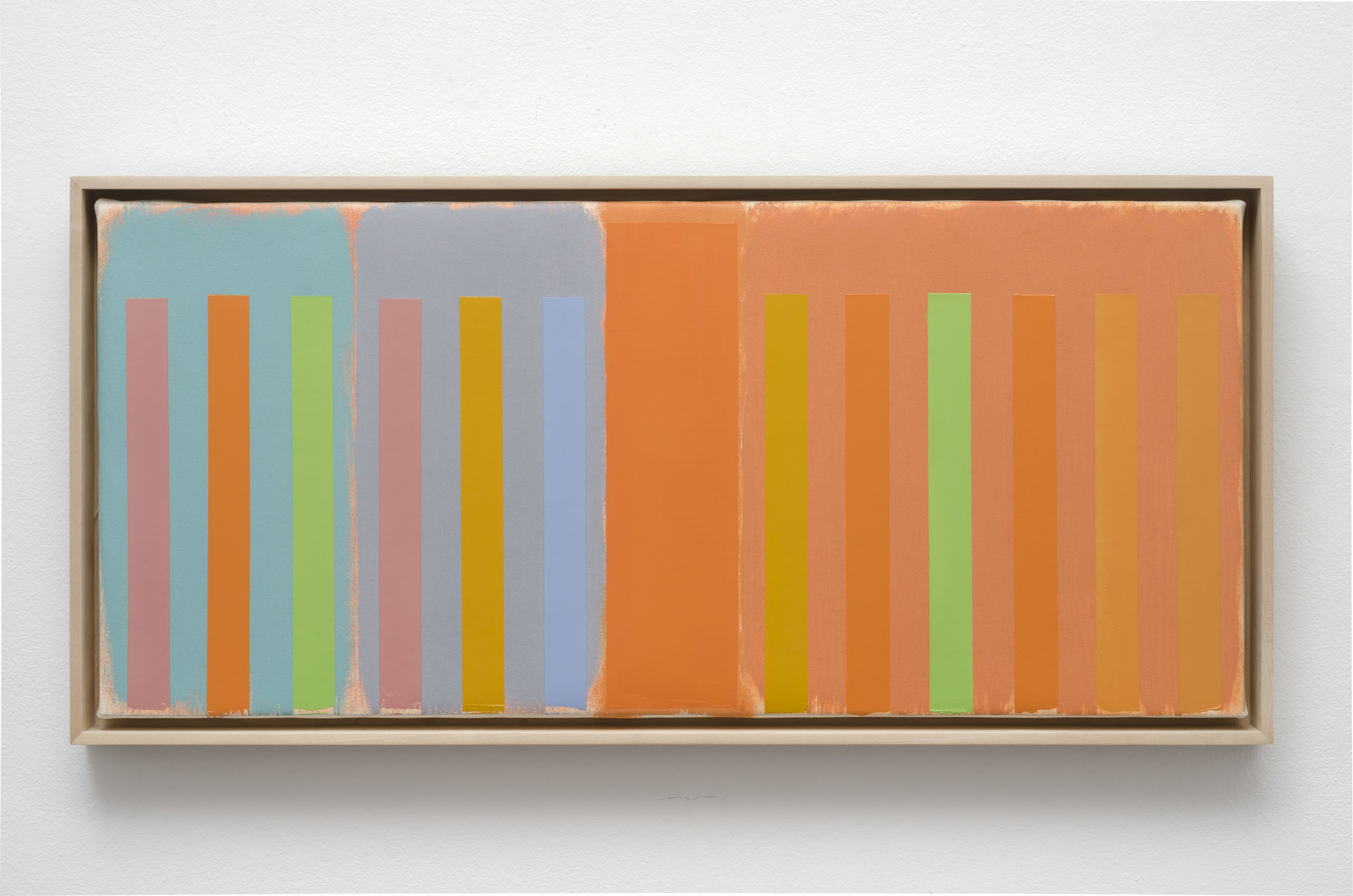 Untitled Abstract Composition (PC05-016), 2005  acrylic on canvas 12 1/2 x 28 1/4 inches; 31.8 x 71.8 centimeters