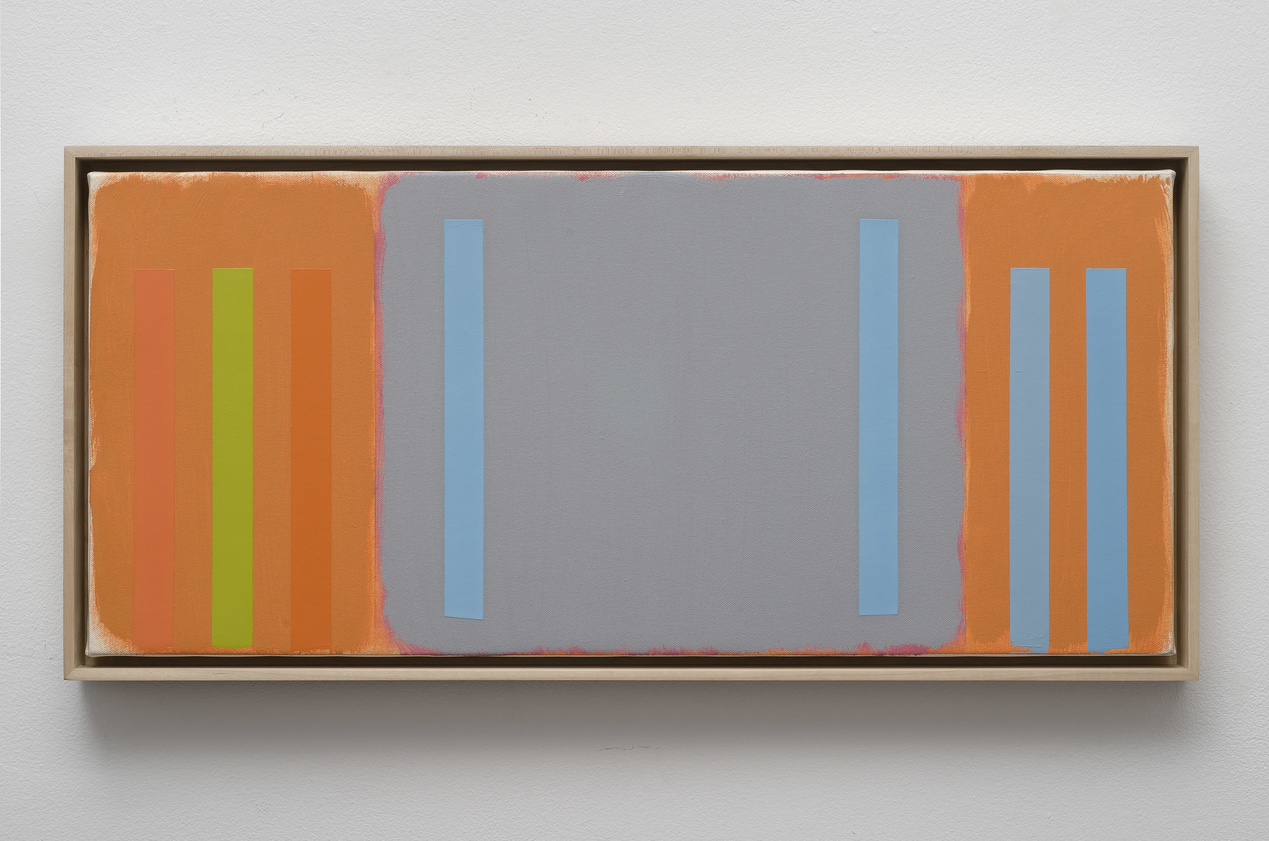 Untitled Abstract Composition (PC05-15), 2005  acrylic on canvas 12 1/4 x 28 1/4 inches; 31.1 x 71.8 centimeters