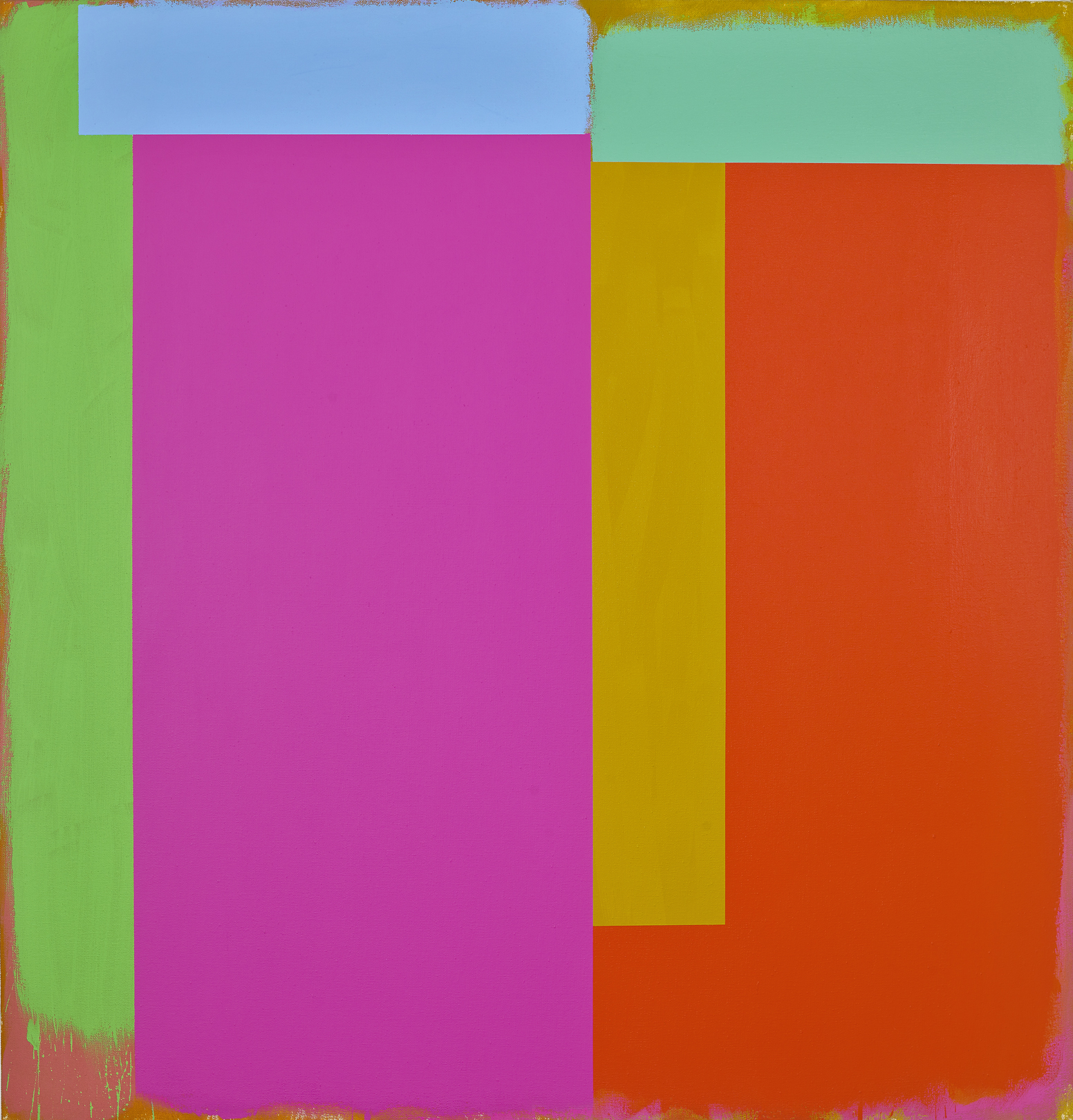 Marker/ California, 1986  acrylic on canvas 60 x 62 inches; 152.4 x 157.5 centimeters