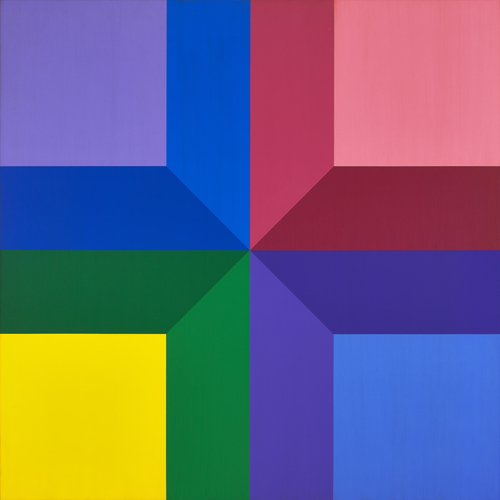 #10 , 1974  oil on canvas 48 x 48 inches; 121.9 x 121.9 centimeters