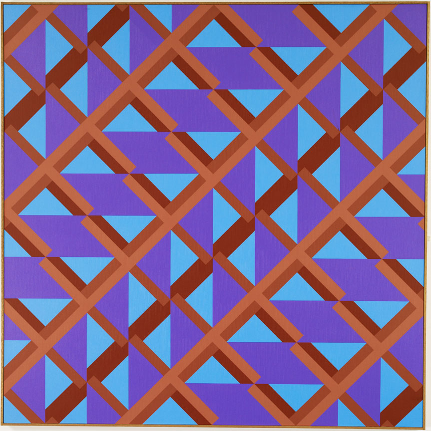 #16 , 1981  oil on canvas 60 x 60 inches; 152.4 x 15.2 centimeters