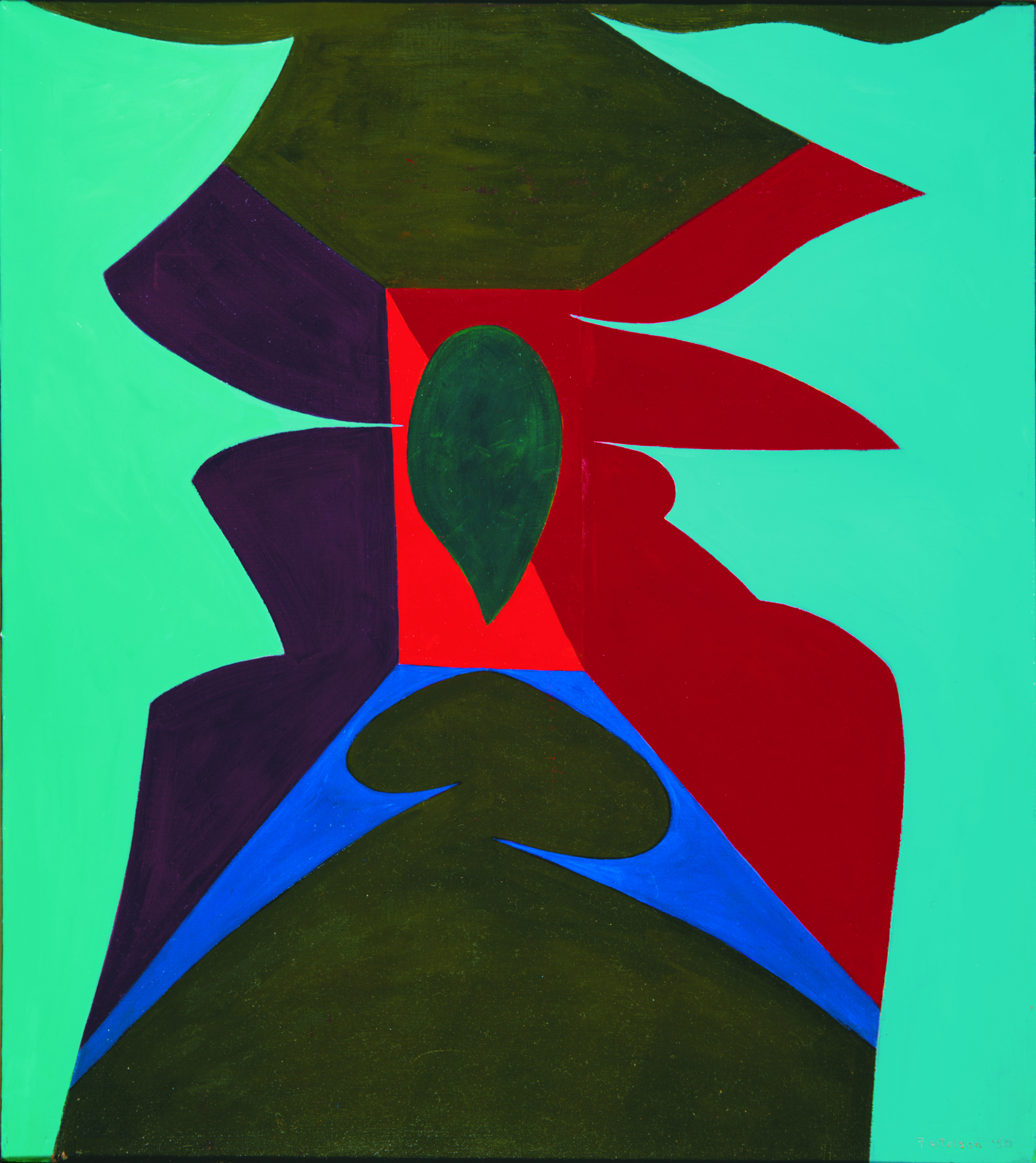 Magical Space Forms , 1948-50  oil on canvas 45 x 40 inches; 114.3 x 101.6 centimeters