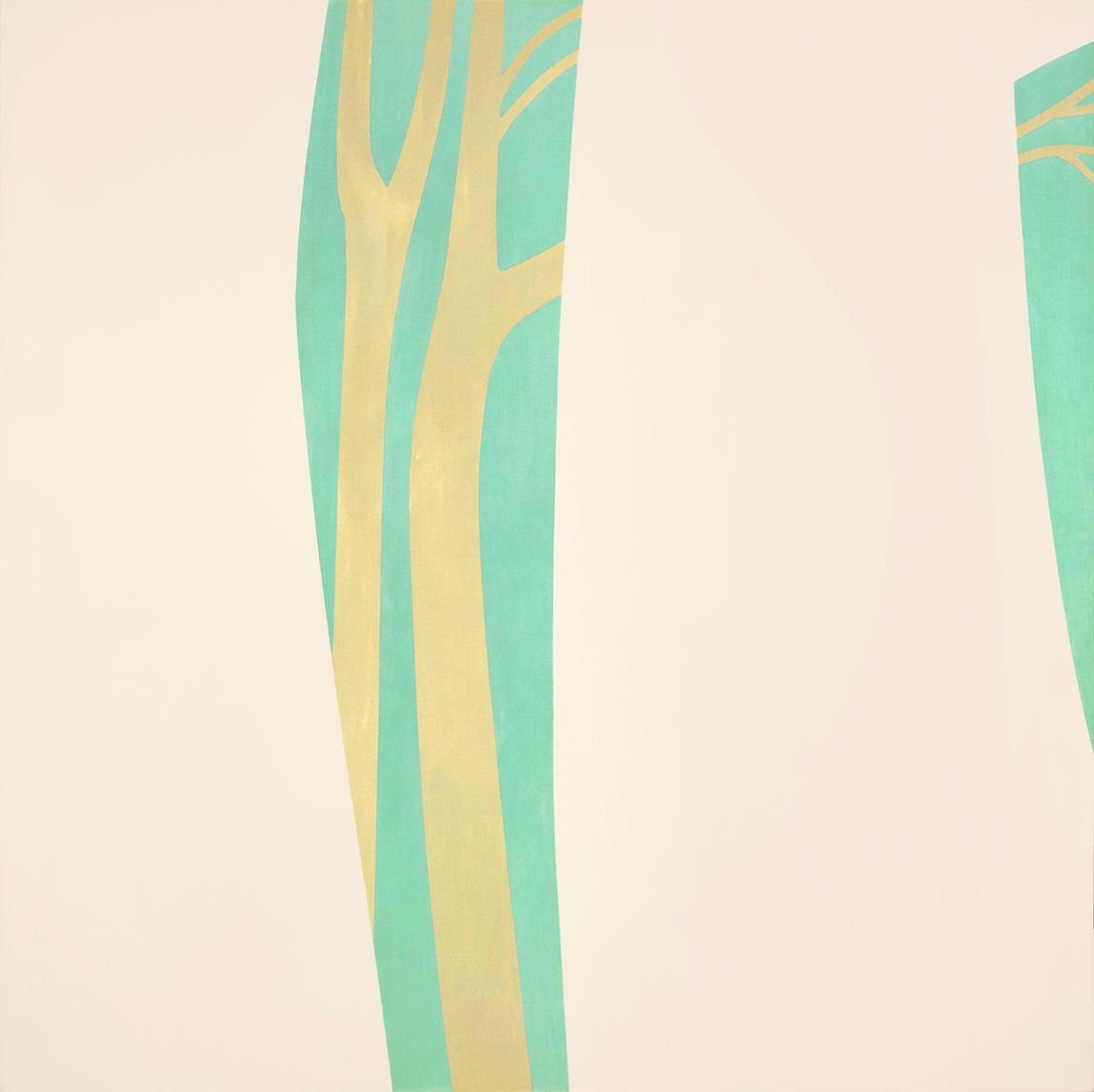 Among the Trees , 1962  acrylic on canvas 50 x 50 inches; 127 x 127 centimeters