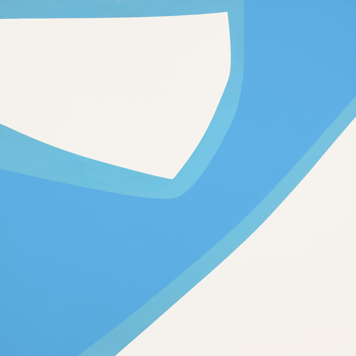 Untitled (Water Map) , 1963  acrylic on canvas 60 x 60 inches; 152.4 x 152.4 centimeters