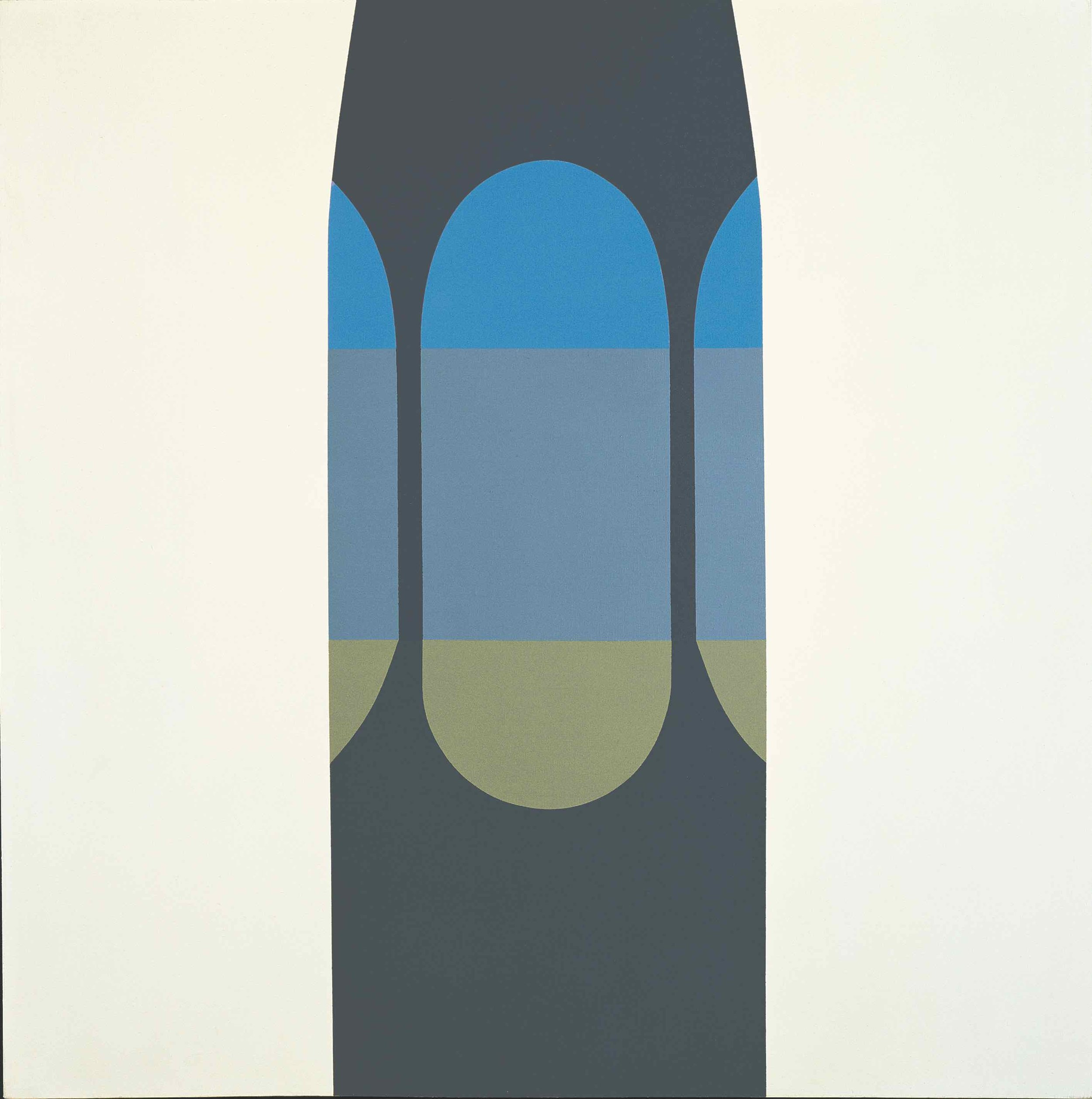 August 31, 1964 (Moonlight) , 1964  acrylic on canvas 60 x 60 inches; 152.4 x 152.4 centimeters