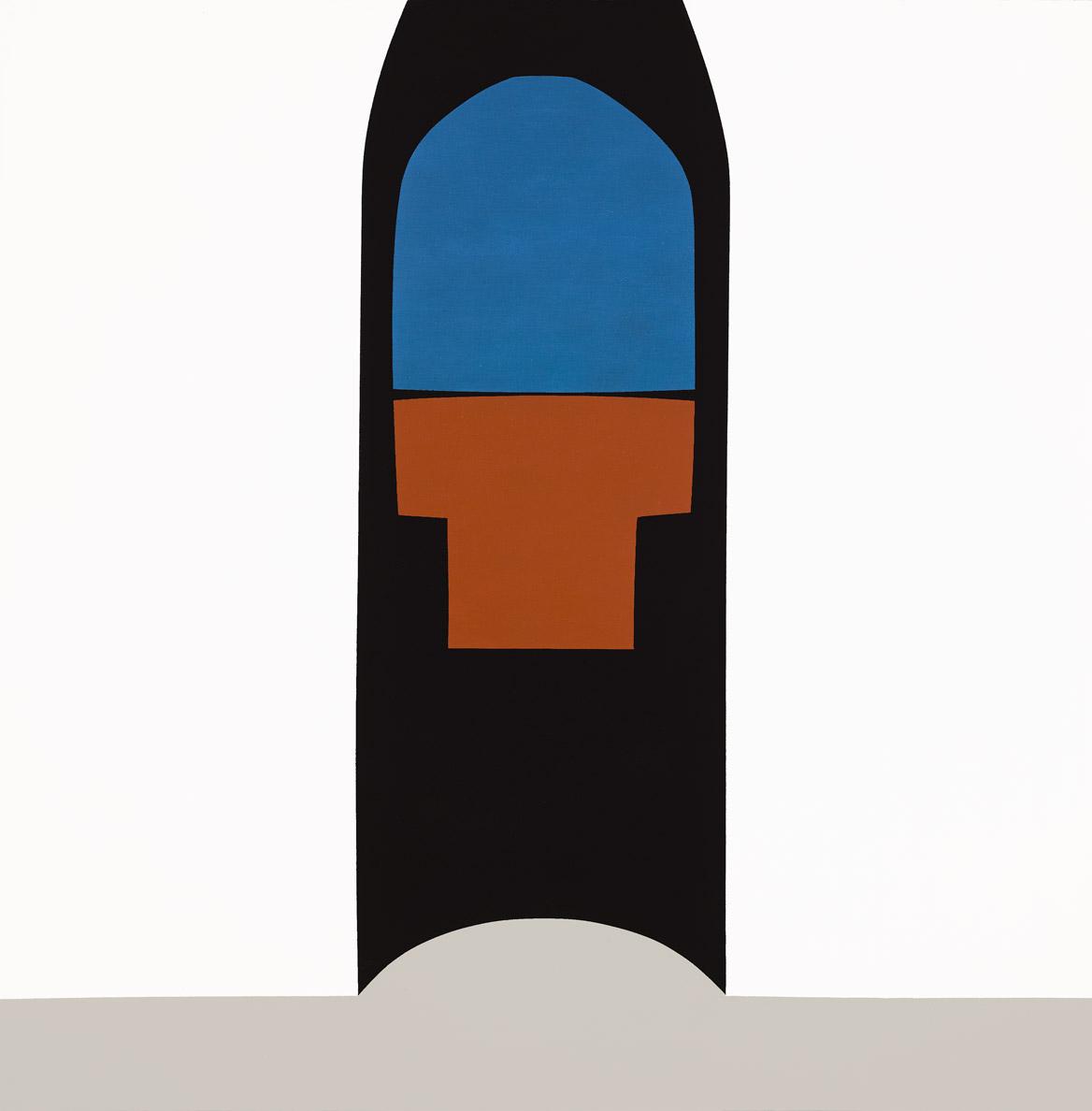 Kurigalzu's Arch , 1964  acrylic on canvas 60 x 60 inches; 152.4 x 152.4 centimeters