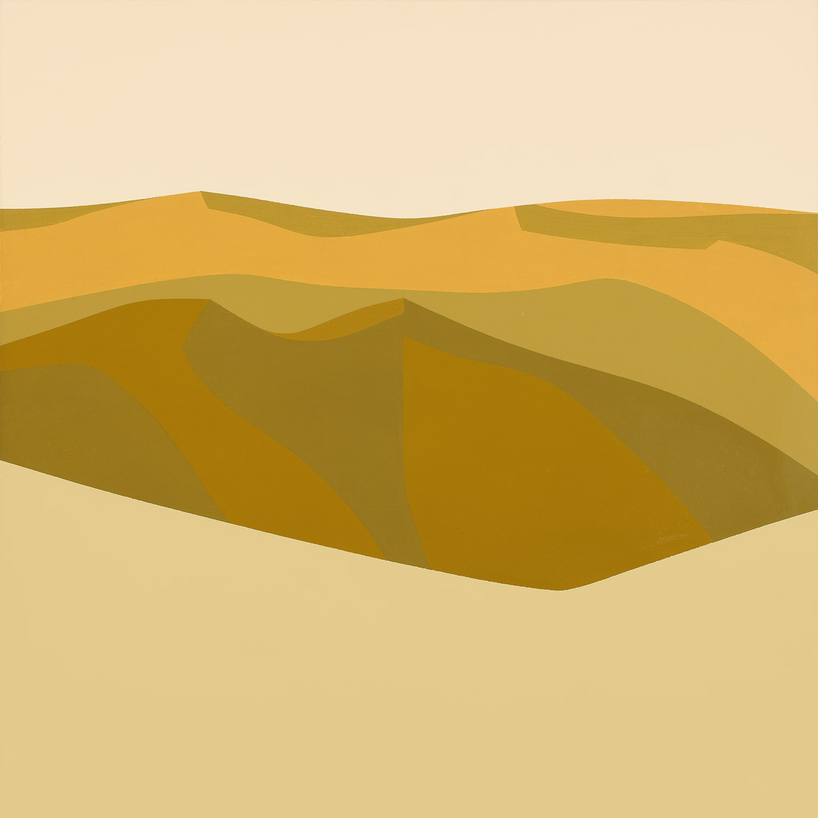 Desert Hills , 1967  acrylic on canvas 40 x 40 inches; 101.6 x 101.6 centimeters