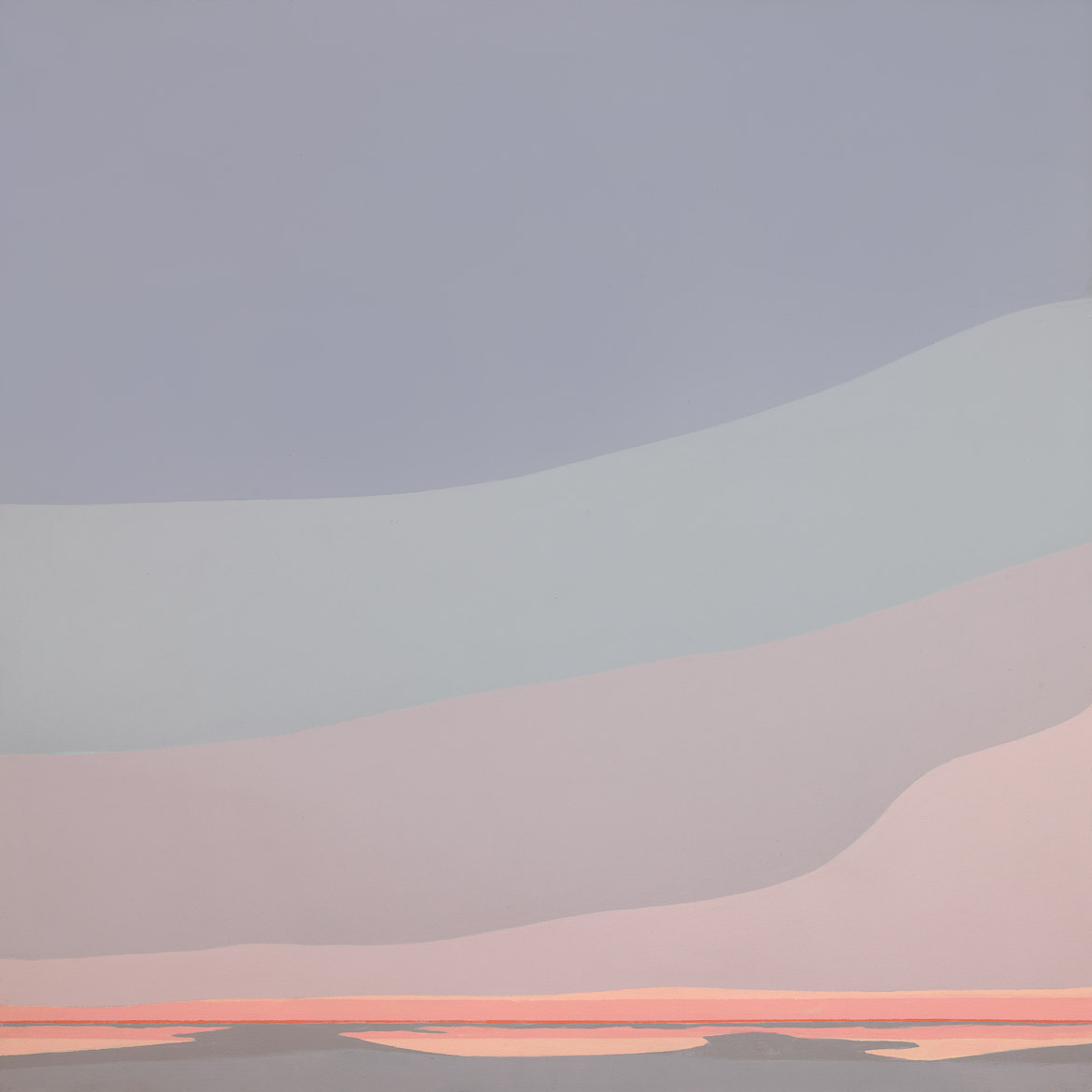 Tidelands , 1987  oil on canvas 50 x 50 inches;127 x 127 centimeters