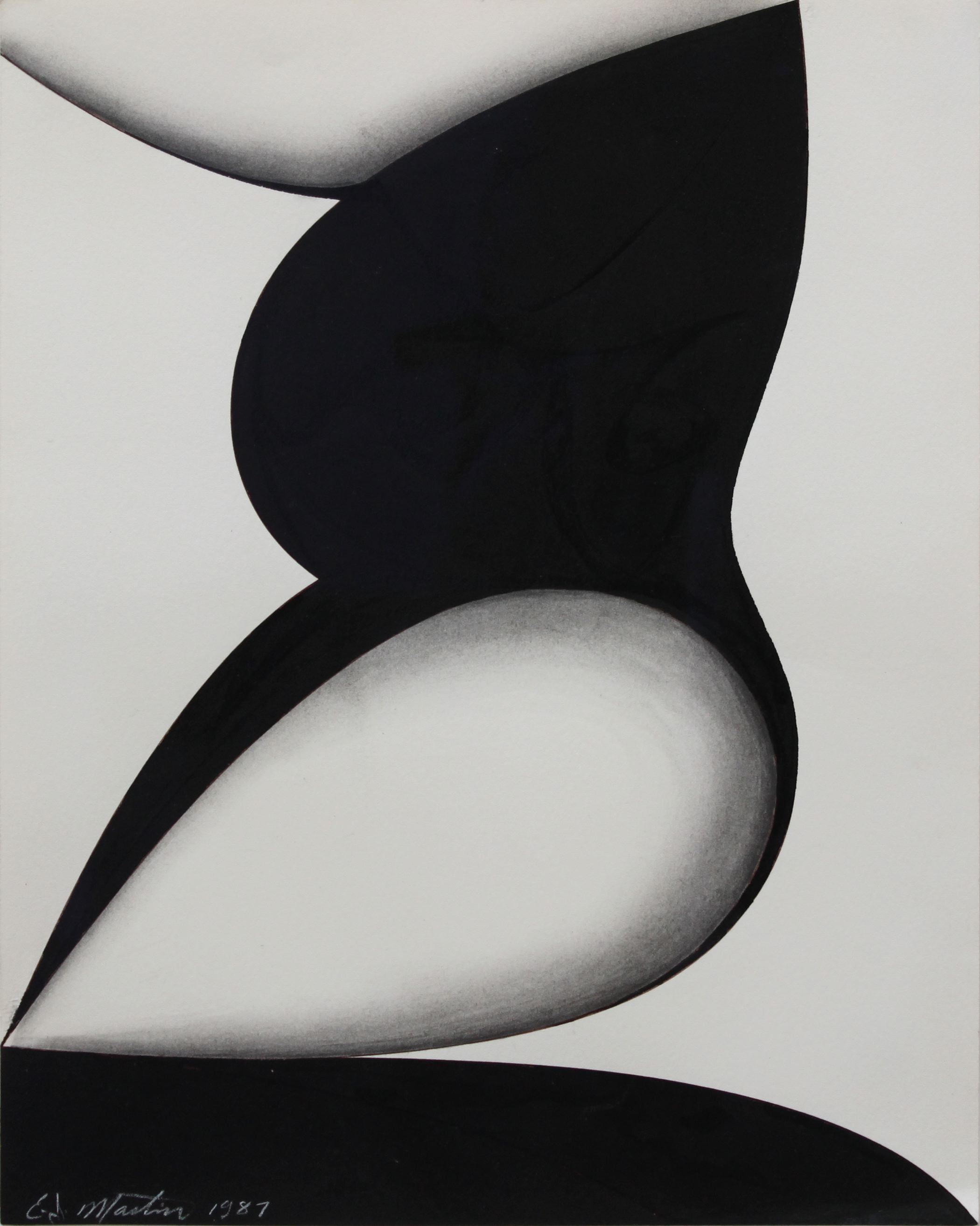 Eugene J. Martin (1938–2005)   Untitled , 1987  pen, ink and graphite 13 3/4 x 10 5/8 inches; 34.9 x 27 centimeters