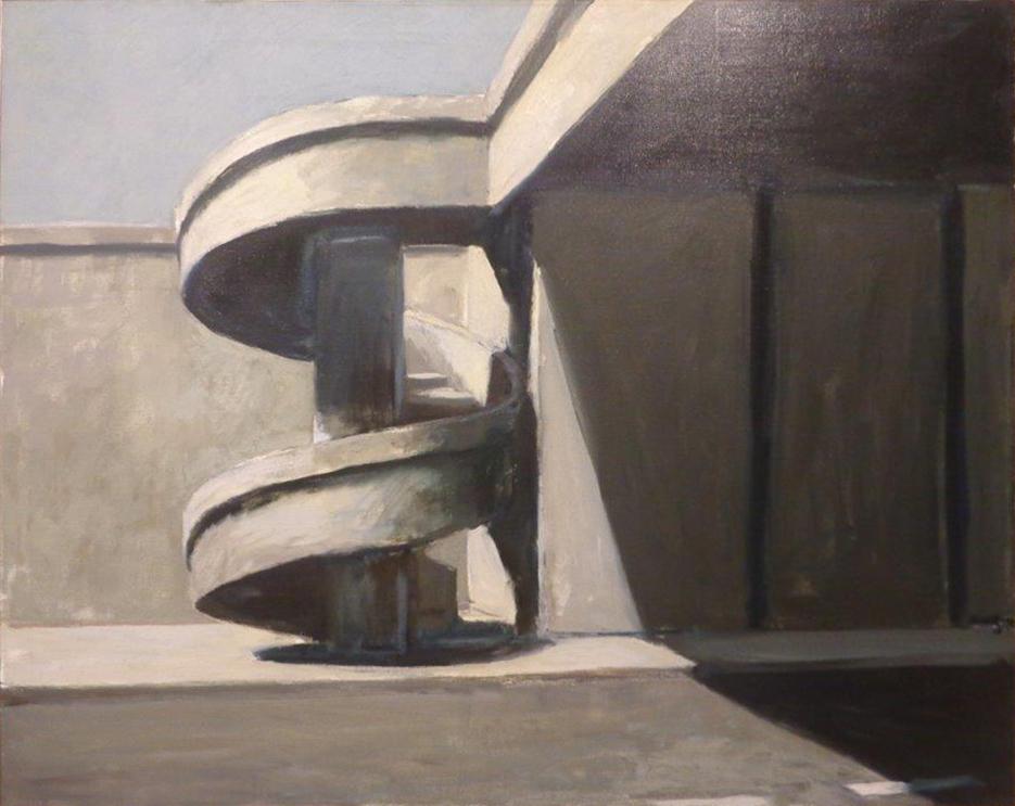 Roger Kuntz (1926-1975)   Pedestrian Spiral , 1965  oil on canvas 40 x 50 1/2 inches; 101.6 x 128.3