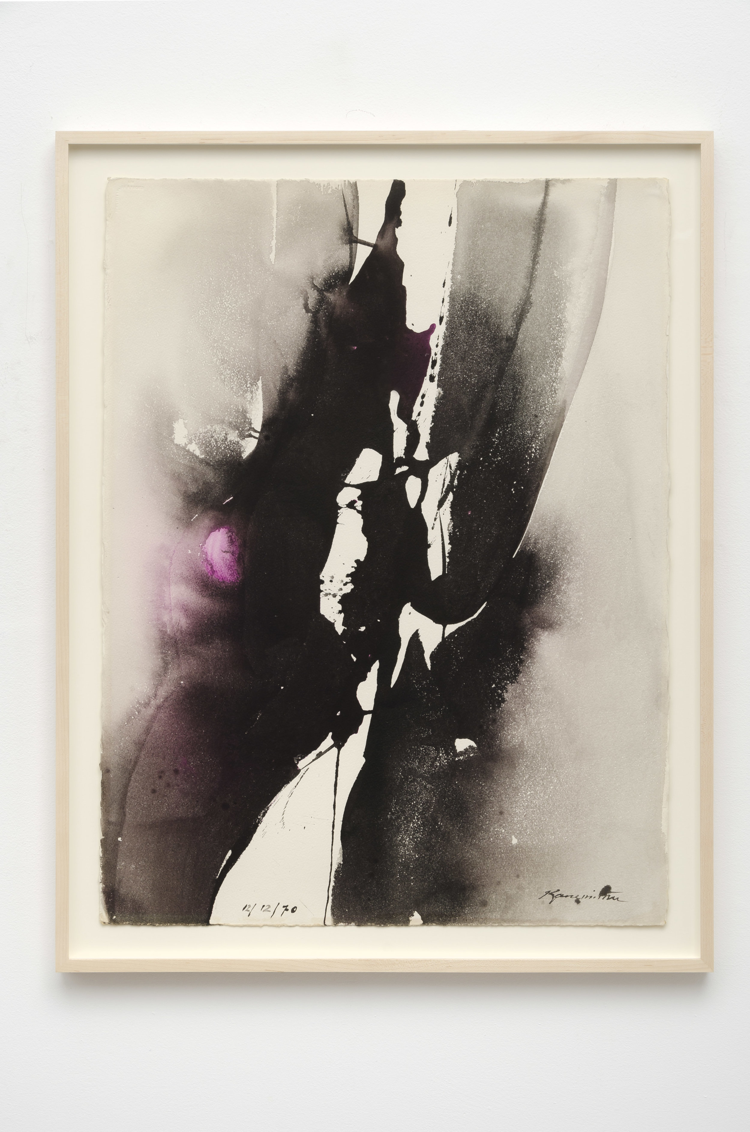 Matsumi Kanemitsu (1922-1992)   Untitled , 1970 sumi and watercolor on paper 33 3/4 x 26 inches; 85.7 x 66 centimeters