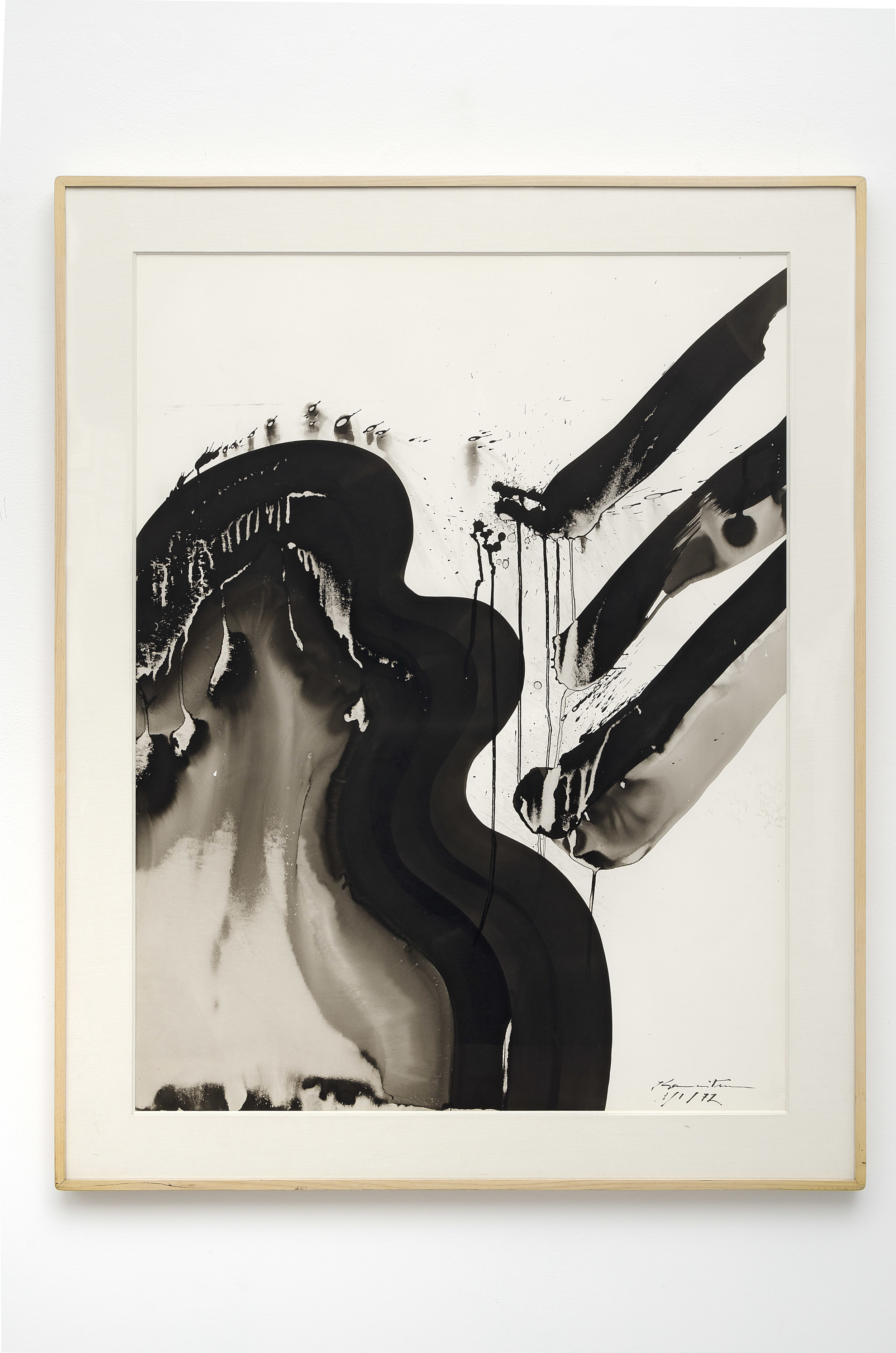 Matsumi Kanemitsu (1922-1992)   Pacific Series - 2 AM , 1972 sumi ink on paper 39 1/4 x 28 7/8 inches; 99.7 x 73.3 centimeters