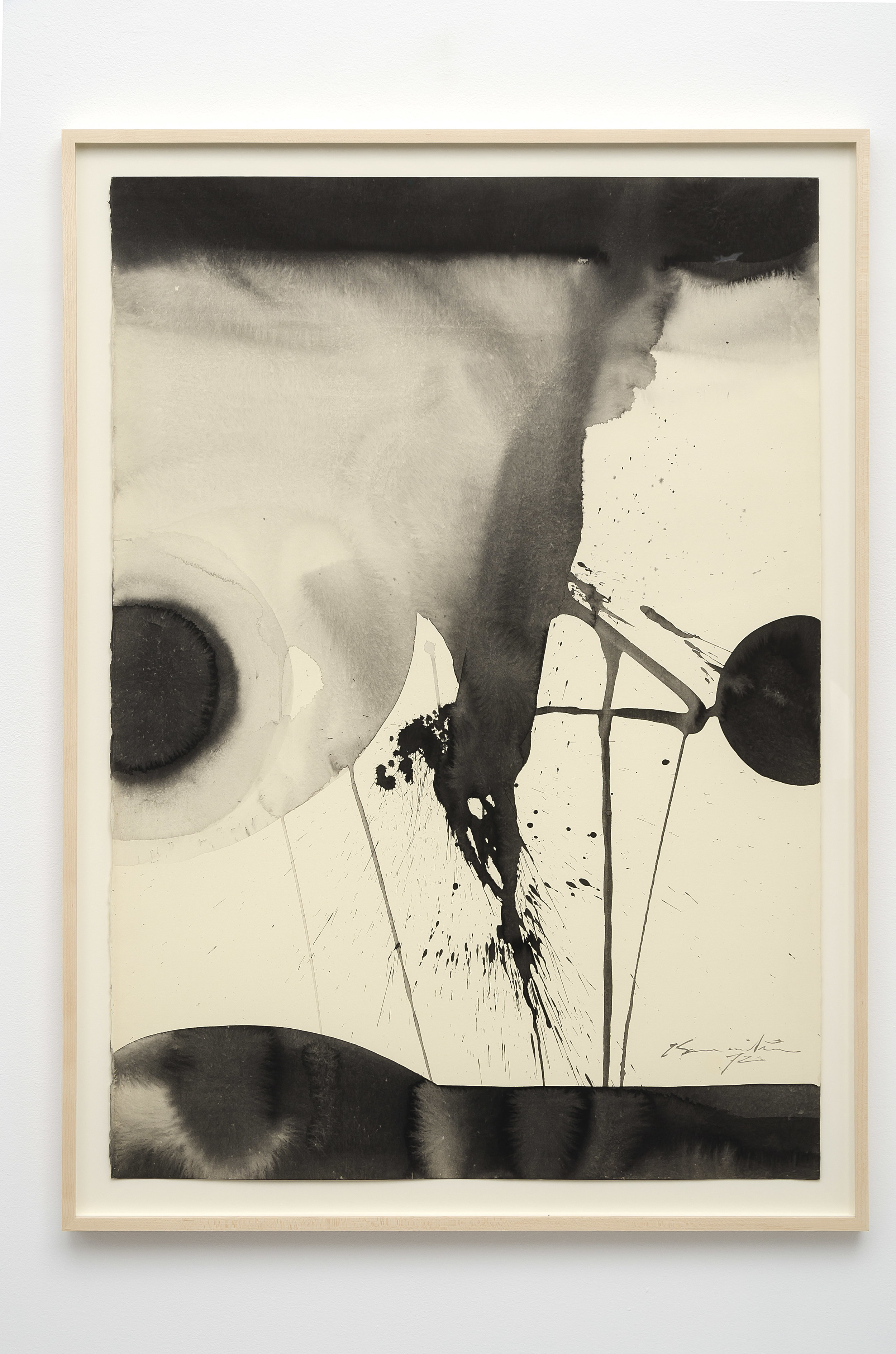 Matsumi Kanemitsu (1922-1992)   Untitled , 1972 sumi ink on paper 43 x 31 1/4 inches; 109.2 x 79.4 centimeters