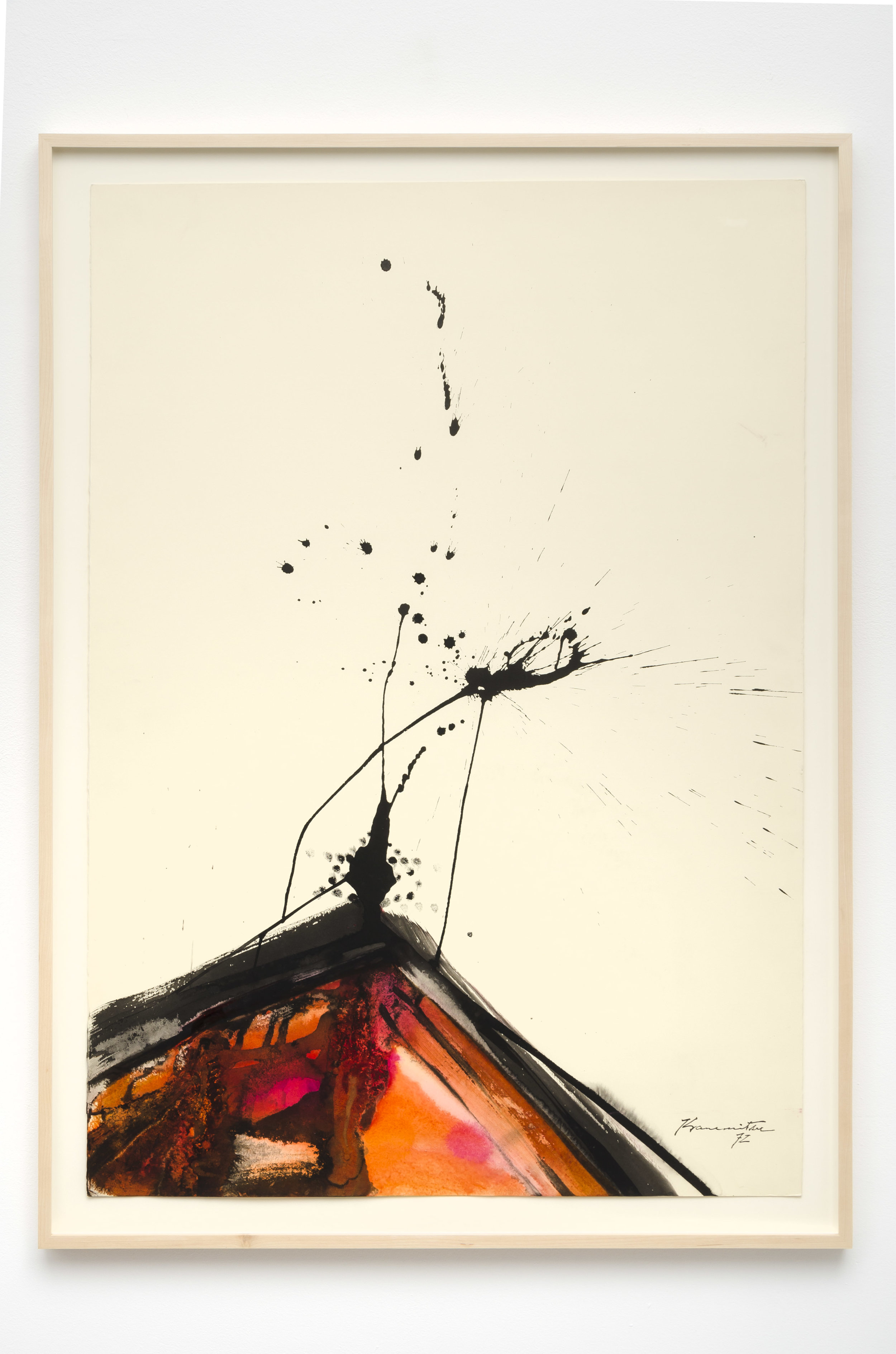 Matsumi Kanemitsu (1922-1992)   Untitled , 1972 sumi and watercolor on paper 43 x 31 1/4 inches; 109.2 x 79.4 centimeters
