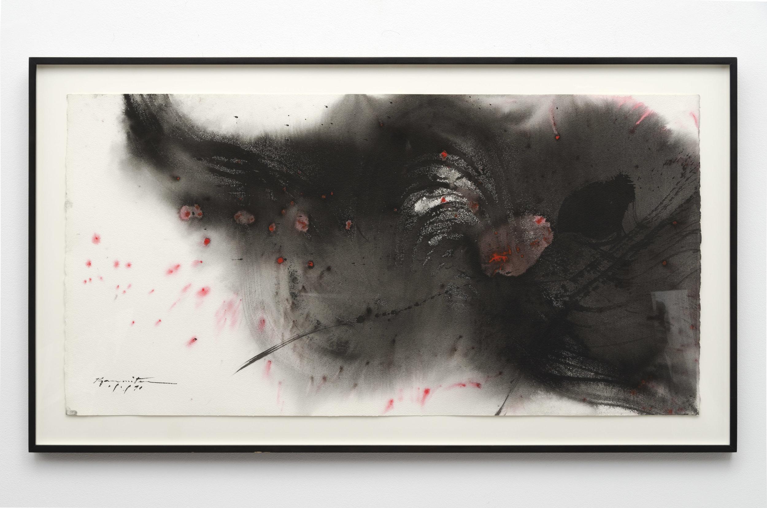 Matsumi Kanemitsu (1922-1992)   1-91 , 1991 sumi on paper 25 3/8 x 45 inches; 64.5 x 114.3 centimeters