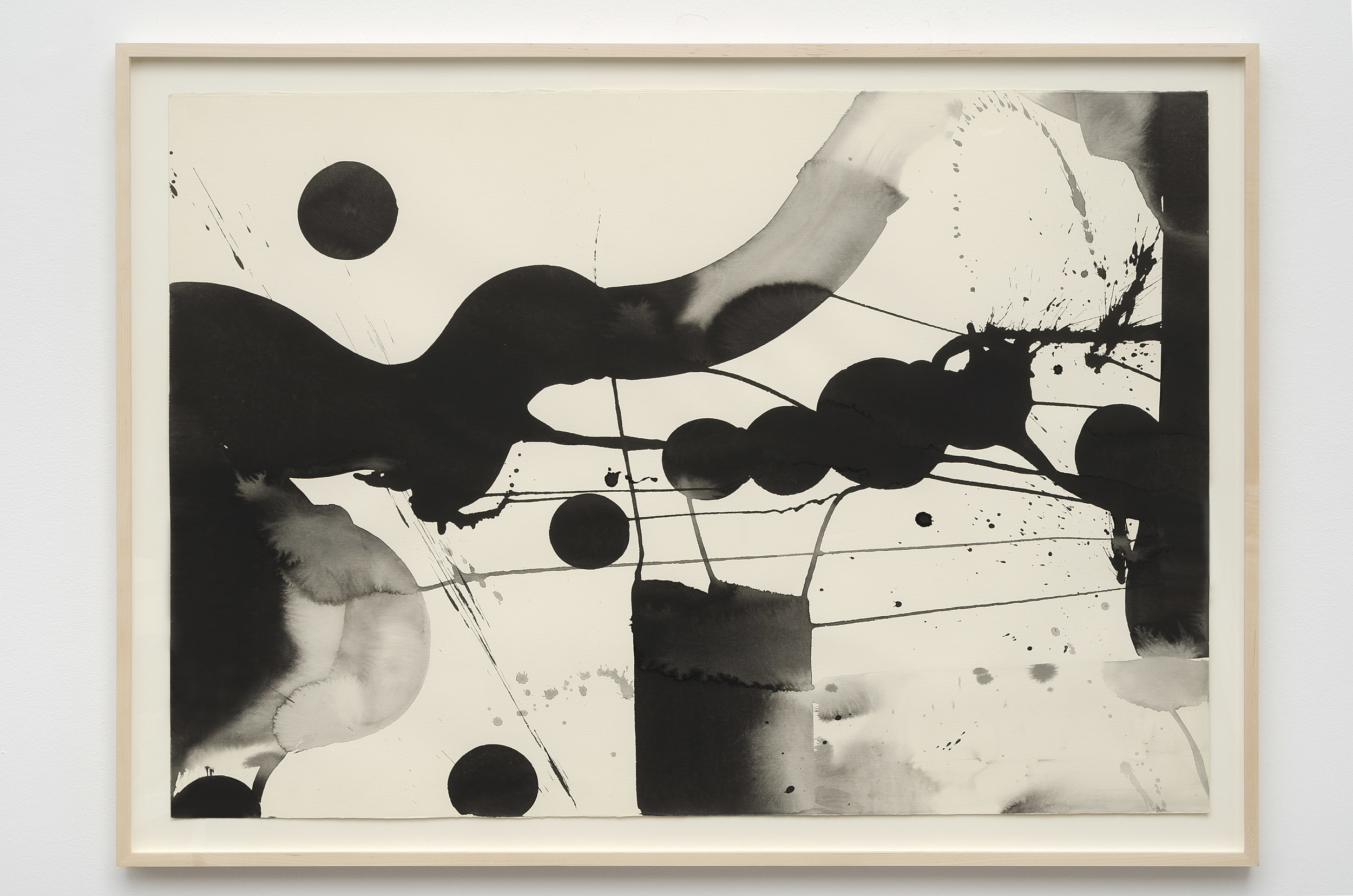 Matsumi Kanemitsu (1922-1992)   Untitled , c. 1970s sumi ink on paper 31 1/4 x 43 1/4 inches; 79.4 x 109.9 centimeters