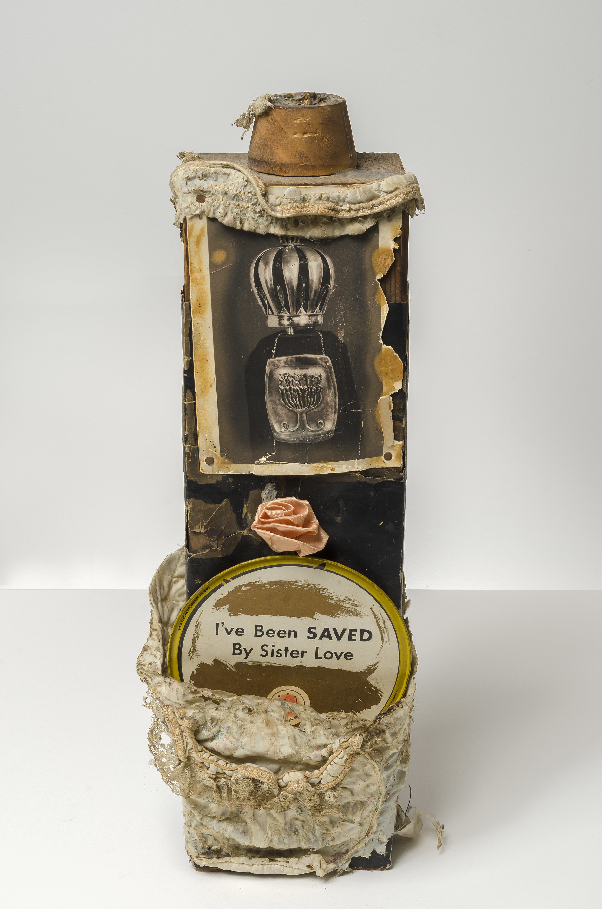 I've Been Saved by Sister Love , c. 1960  mixed media sculpture 7 x 5 1/2 x 20 1/4 inches; 17.8 x 14 x 51.4