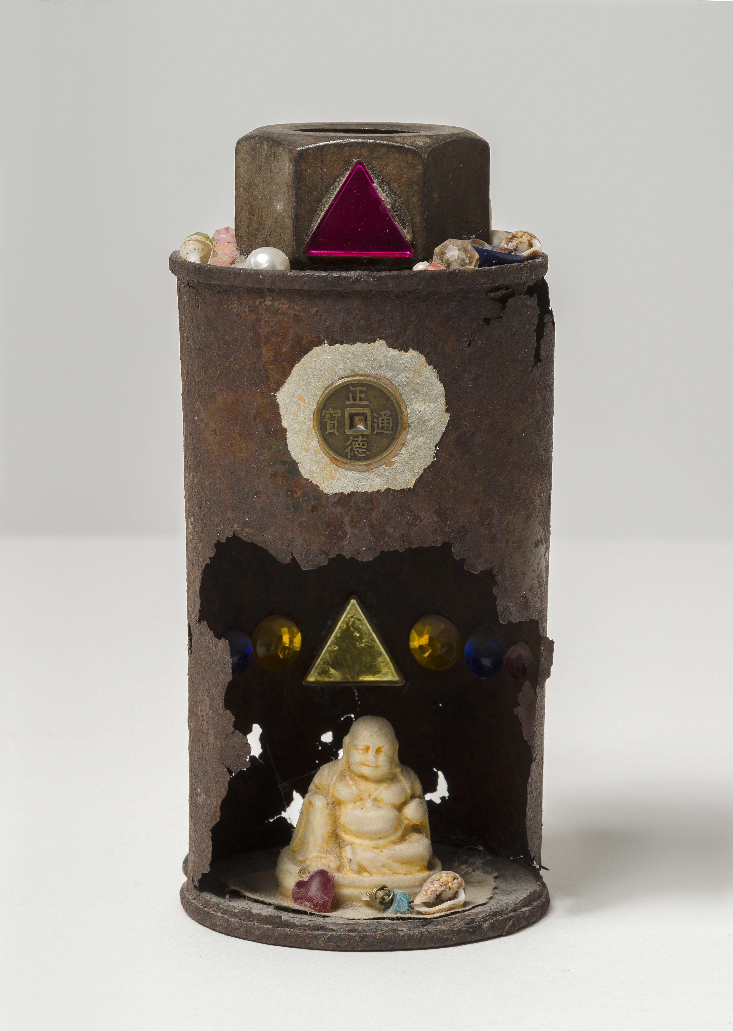 Untitled (Shrine) , c. 1958  mixed media sculpture 3 x 5 3/4 inches; 7.6 x 14.6 centimeters