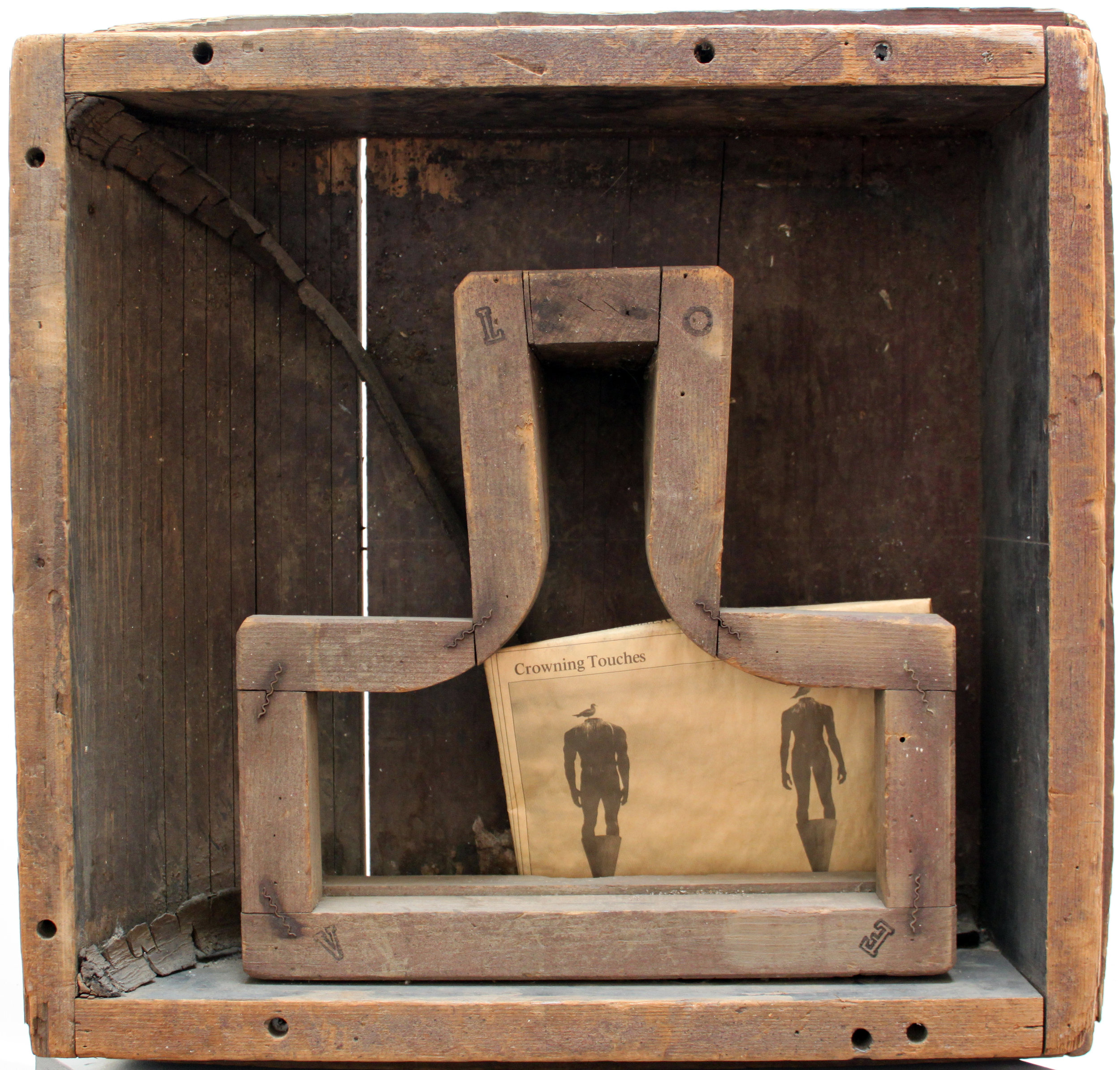 Crowning Touches, for Bob Grahm , 1984  mixed media 20 3/4 x 20 x 5 1/2 inches; 52.7 x 50.8 x 14 centimeters