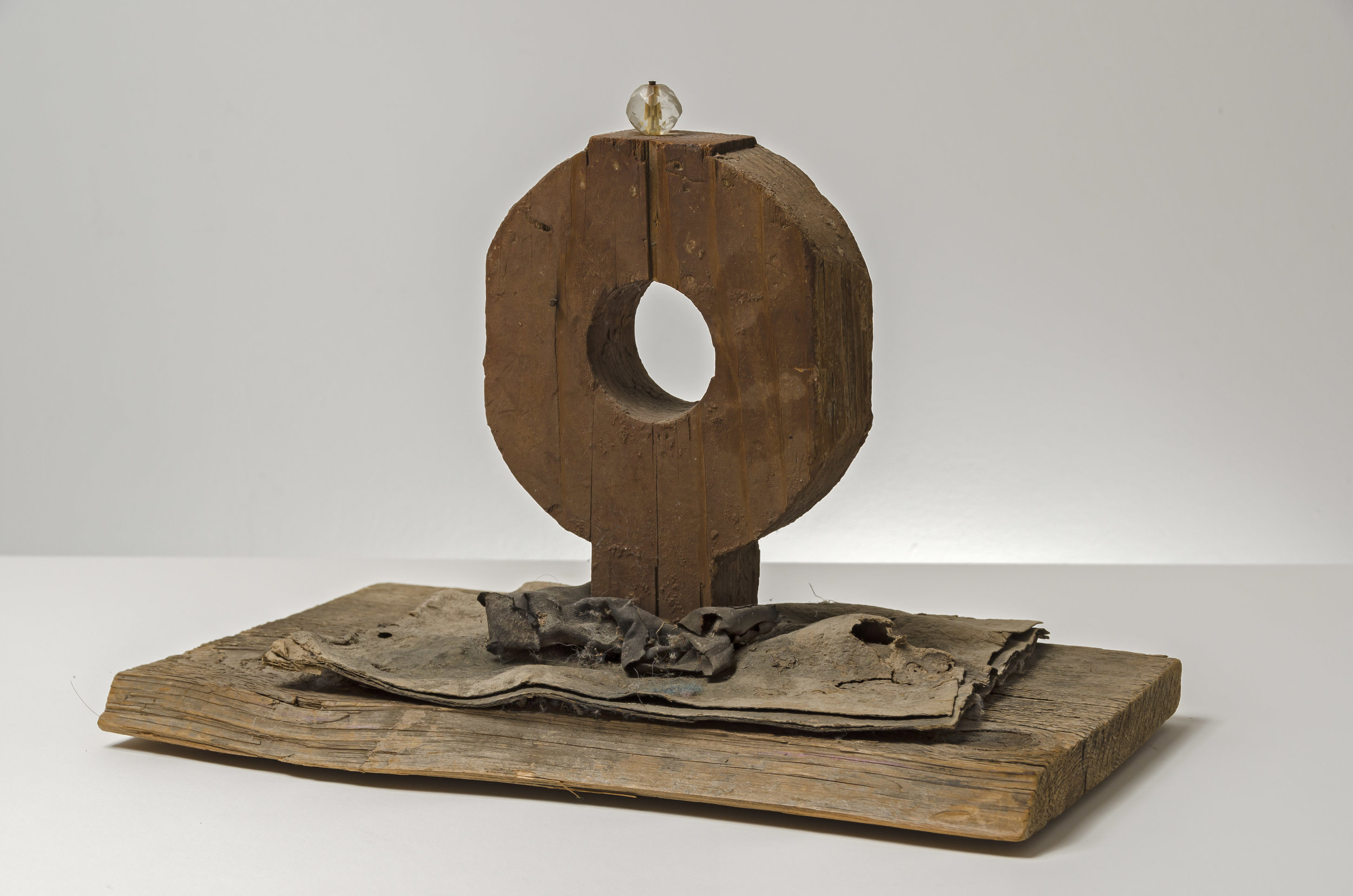 Untitled Ring Sculpture , c. 1960  mixed media sculpture 14 x 8 1/2 x 9 1/2 inches; 35.6 x 21.6 x 24.1 centimeters