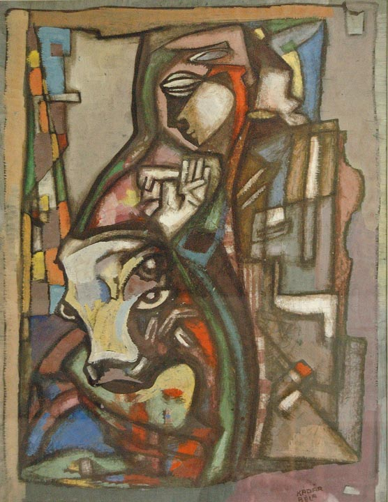 Untitled Abstract Composition , circa 1940s  gouache on paper 29 3/4 x 22 1/2 inches; 75.6 x 57.2 centimeters
