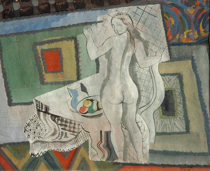 Femme Cubiste , 1925  gouache on paper 11 1/2 x 12 1/2 inches; 29.2 x 31.8 centimeters