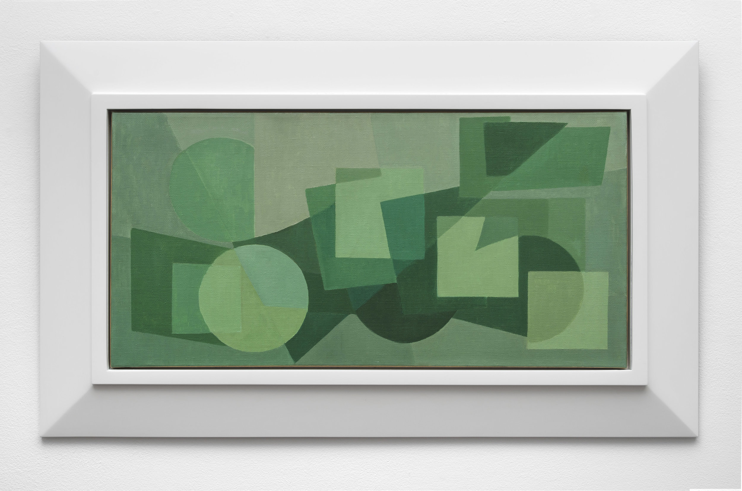 Untitled Abstract Composition , 1958  oil on canvas 13 3/4 x 27 1/2 inches; 35 x 70 centimeters