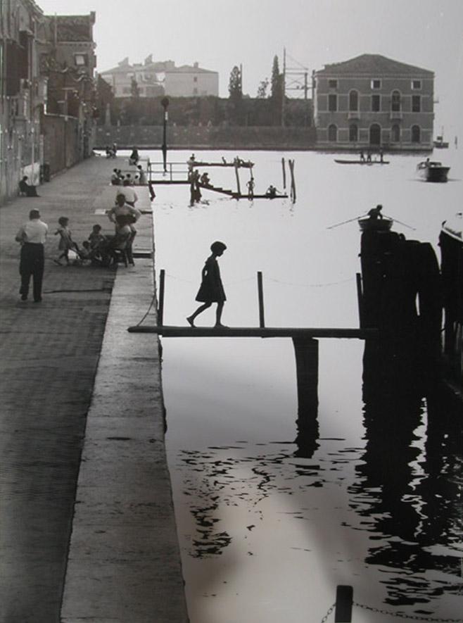 Venice Fillette, Venice Italy,  1959 silver gelatin print (WR 354) 14 x 11 inches; 35.56 x 27.94 centimeters