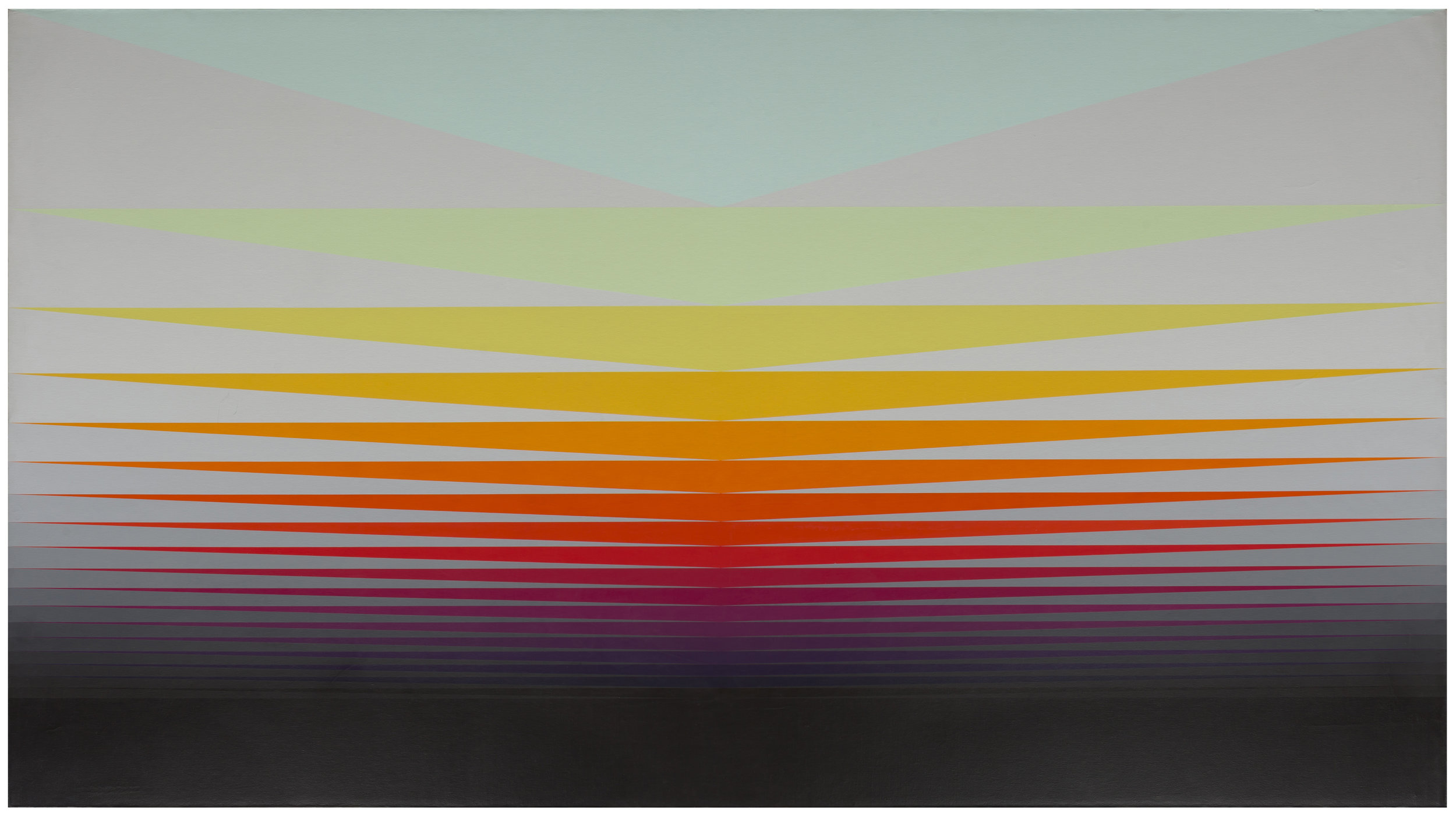 Search for the Elysian Field , 1976  acrylic on canvas 66 x 120 inches; 167.6 x 304.8 centimeters