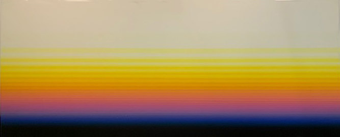 South Wall (#11) , 1976  acrylic on canvas 79 x 192 inches; 200.7 x 487.7 centimeters