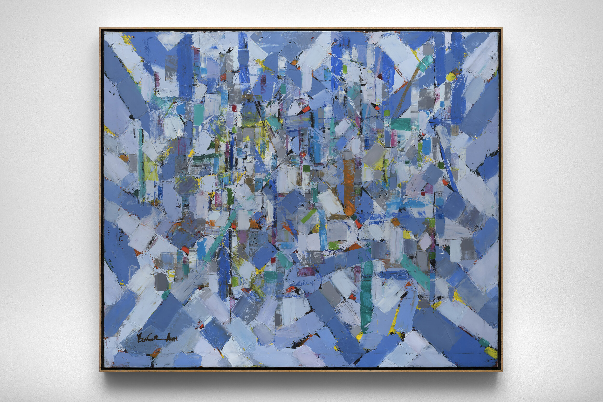 LA Harbor , 1995 oil on canvas 34 x 40 inches; 86.4 x 101.6 centimeters