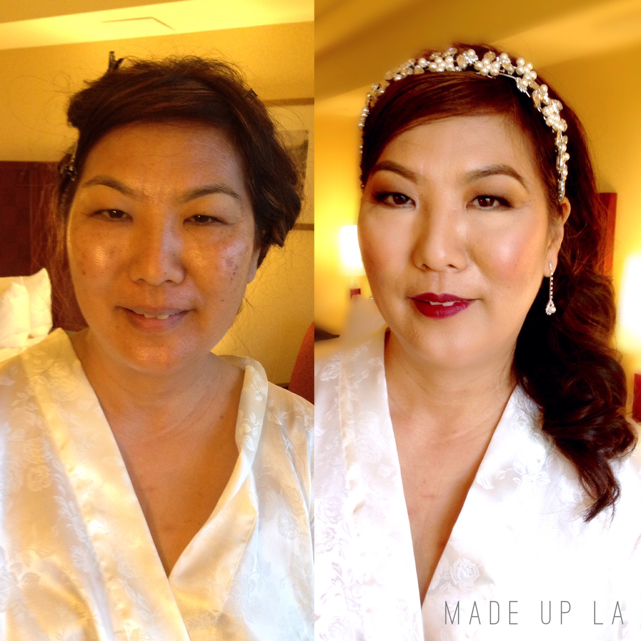 Hair And Makeup Before and After
