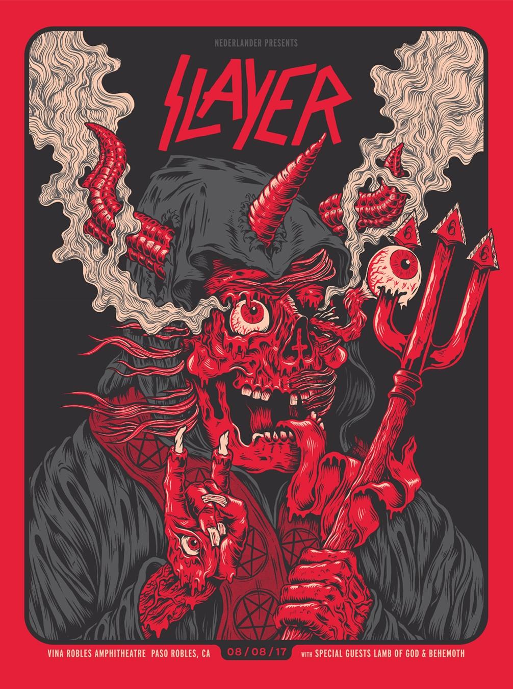 Slayer Gig Poster
