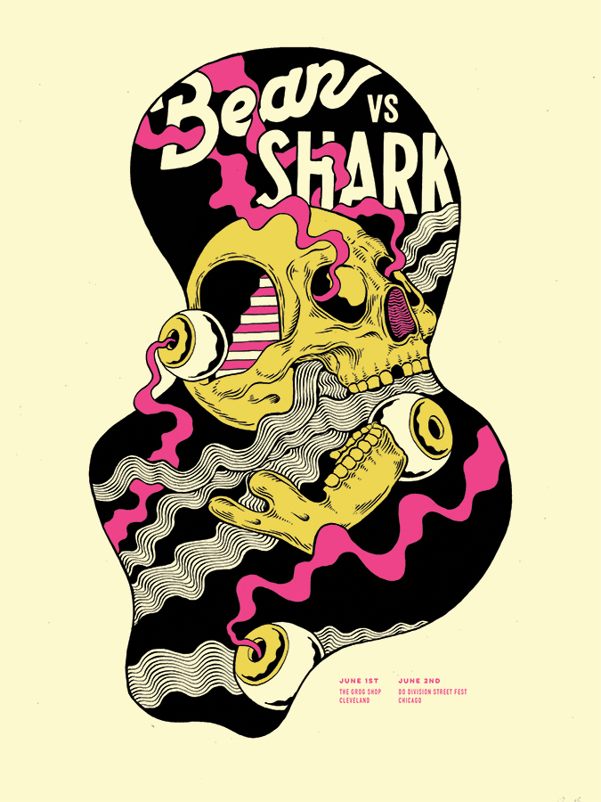 Bear Vs Shark Gig Poster