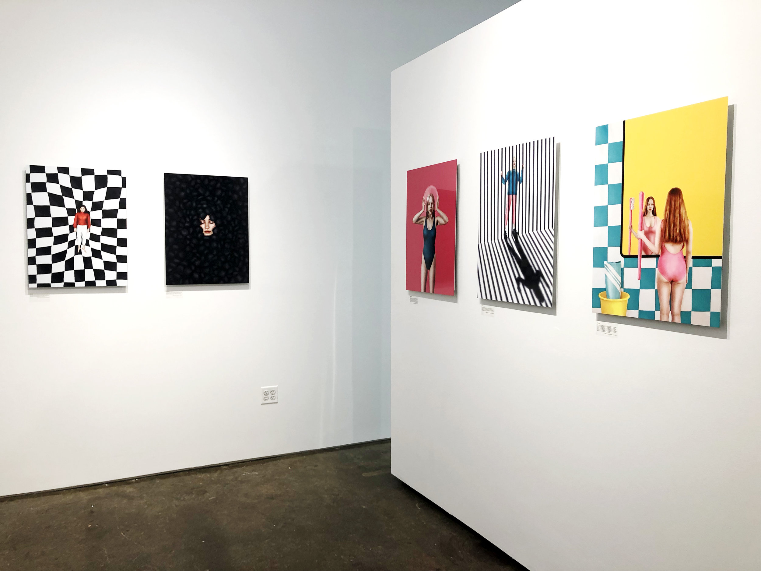 Installation shot of Emerging Photography Award exhibition at United Photo Industries (2018)