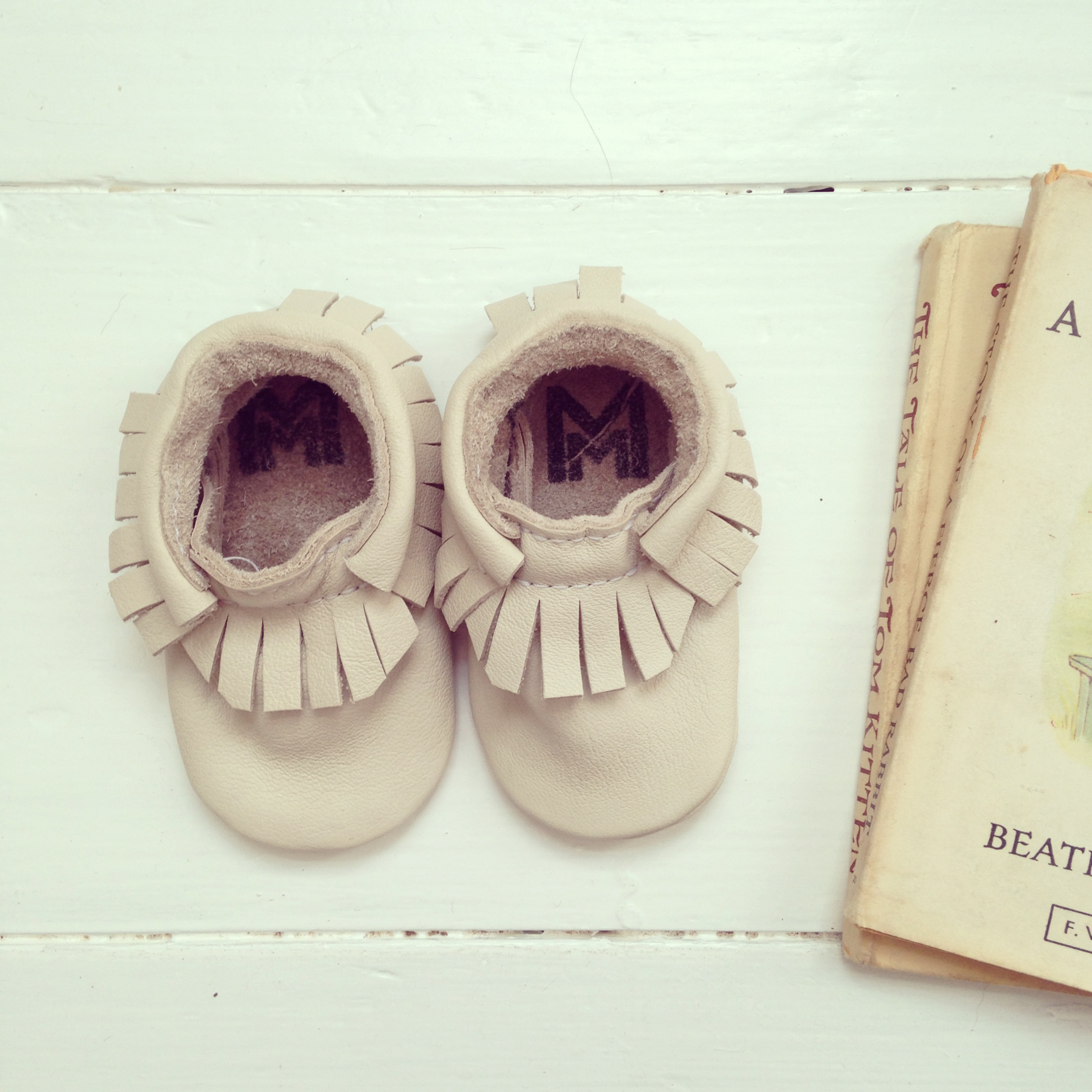 Baby moccasins by  Monkey and Mole