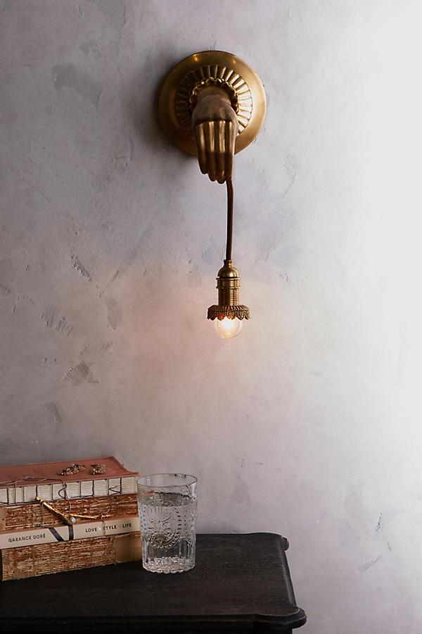 Lightbearer sconce, £398,  Anthropologie