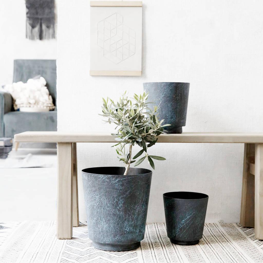 Marble effect blue planter  - Not on the High Street - £39.95 (Medium: 19cm x 18cm or Large: 24cm x 26cm )