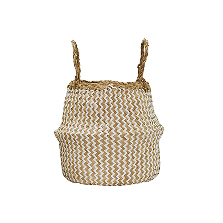 Zig Zag belly basket  - This Modern Life - £19.50 (H 15cm Dia 28cm.)