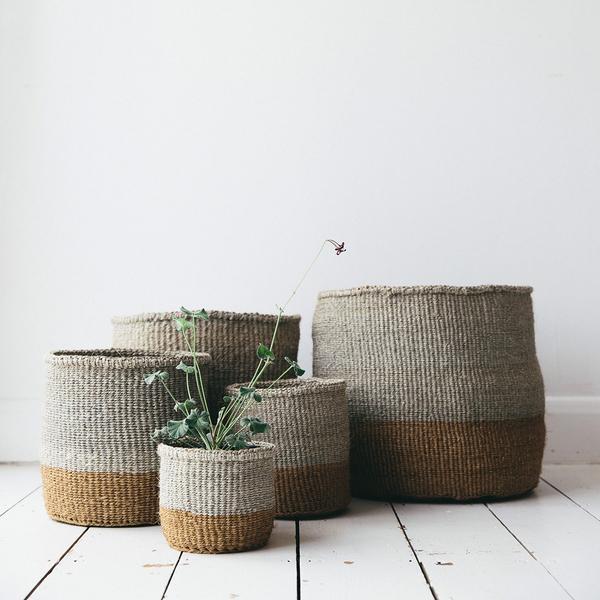 Sisal woven basket  - The Future Kept - from £25 ( S: 18cm x 18cm, M: 23cm x 23cm, L: 28cm x 28cm, XL: 32cm x 32cm)