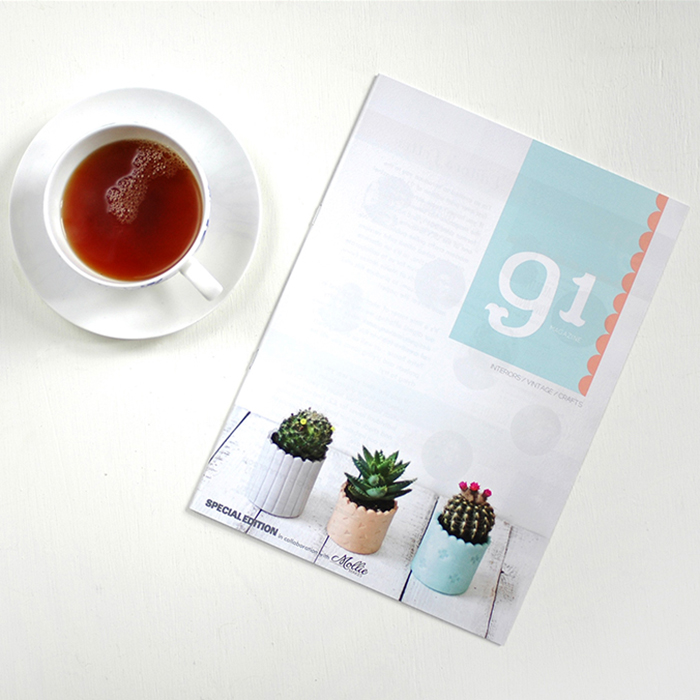 mini issue in print in collaboration with Mollie Makes