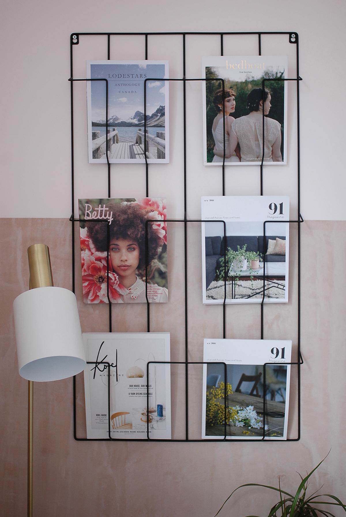 Magazine rack : La Redoute /  floor lamp : Barker and Stonehouse