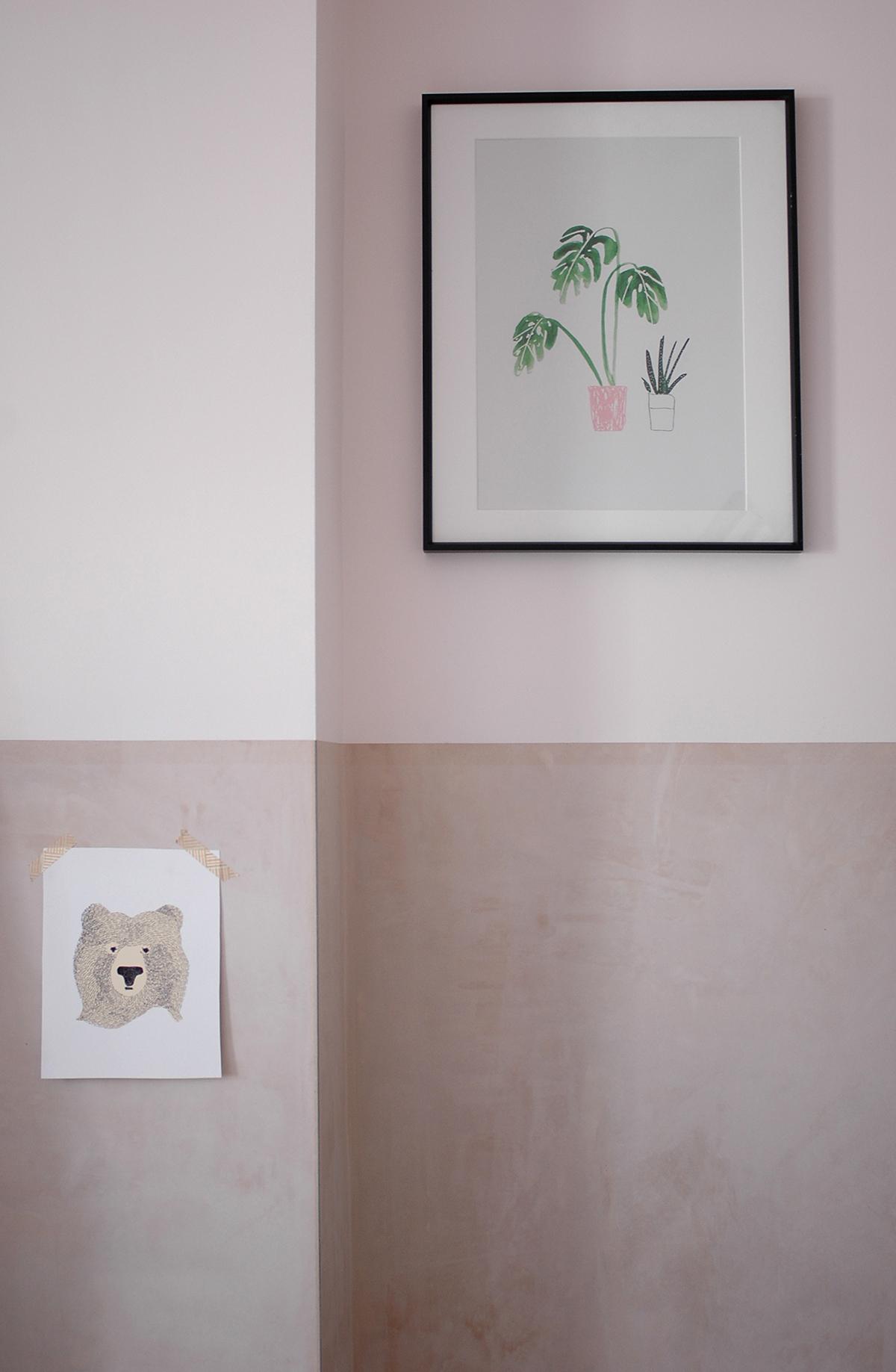 Monstera print : The Lovely Drawer /  Bear print : Seventy Tree