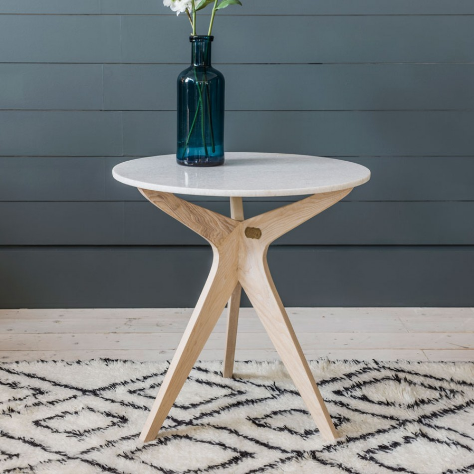 Marcel marble side table, £275 - Graham and Green