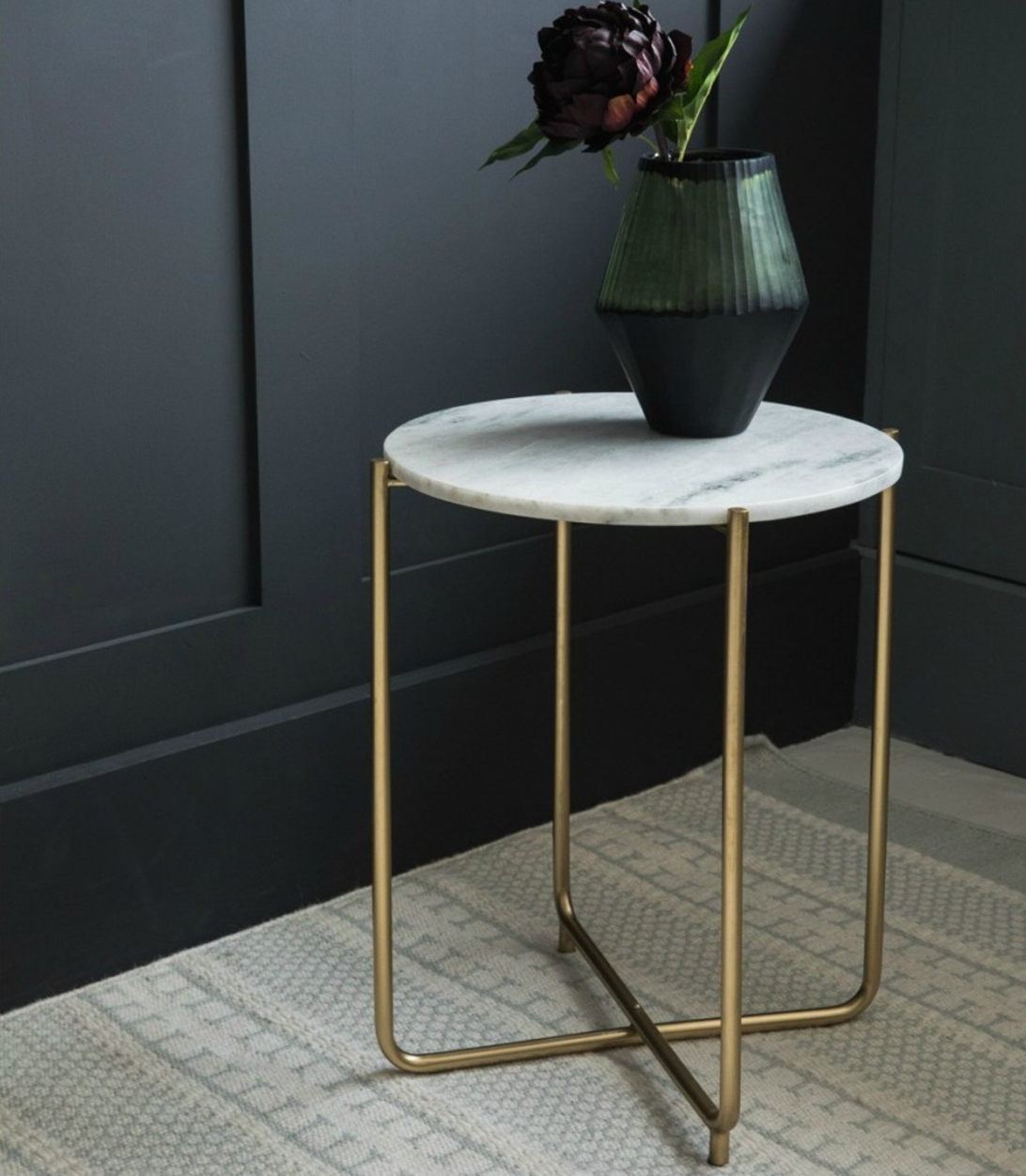 Pink Marble Side Table Zara