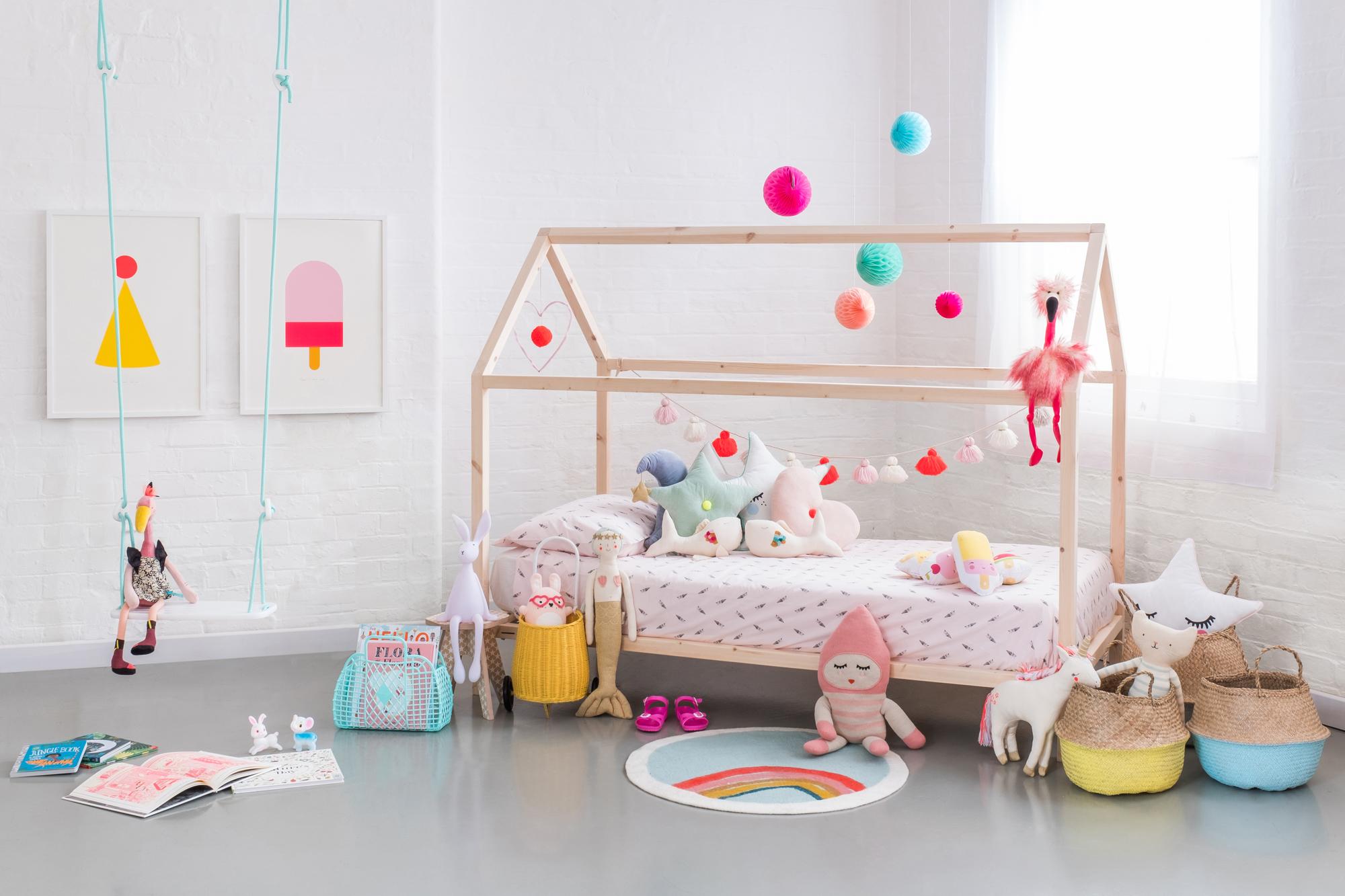 House bed frame  - from £249 - Bobby Rabbit (Junior:169cm x 79cm / Single:199cm x 99cm)