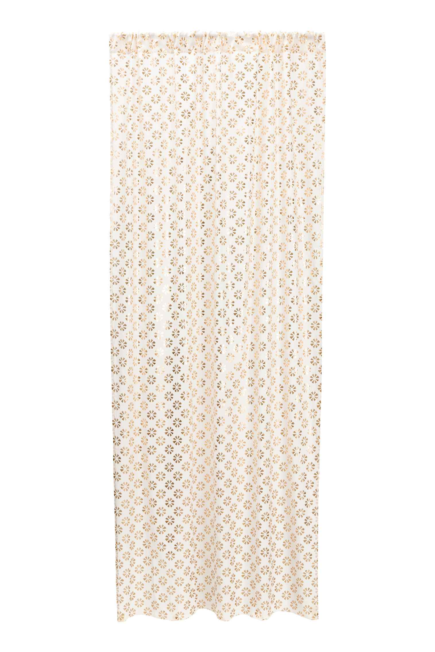 Patterned curtain length in white & gold  - H&M - £19.99
