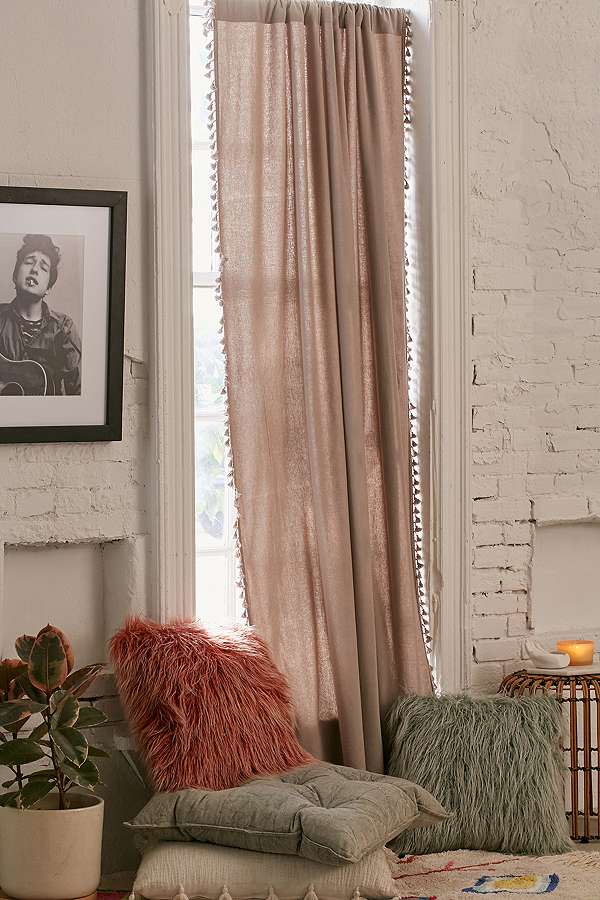 Palma fringed curtain panel  - Urban Outfitters - £65