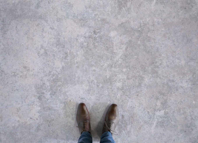 Concrete effect vinyl flooring