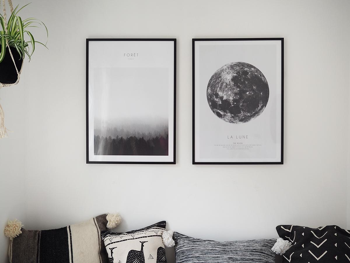 Monochrome posters by Desenio